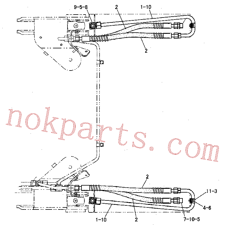 CAT 148-8341 for RM-300 Reclaimer Mixer(RRSS) hydraulic system 220-0897 Assembly