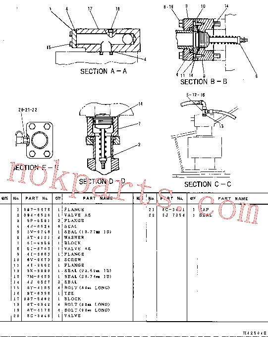 CAT 4I-3663 for 325 L Excavator(EXC) hydraulic system 087-5075 Assembly