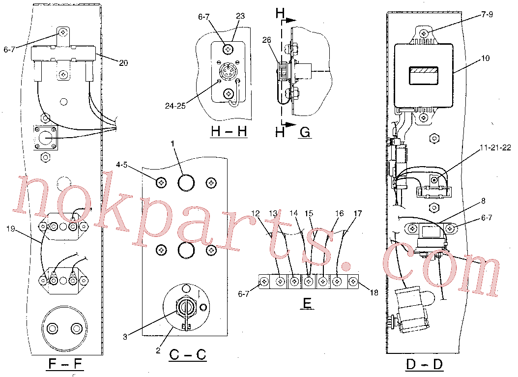 CAT 5P-6721 for 59L Winch(TTT) electrical and starting system 106-0051 Assembly