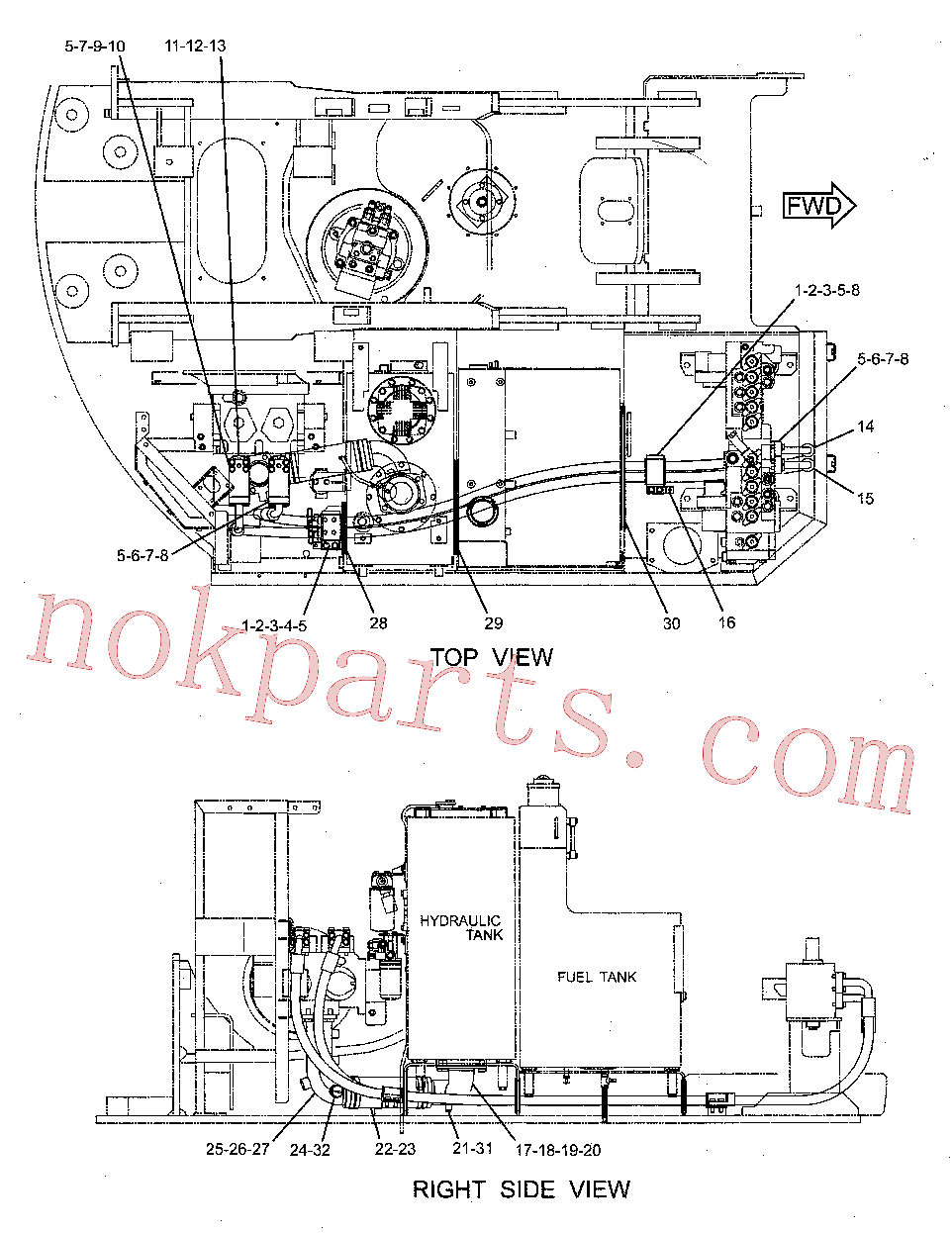 CAT 213-9602 for 325C Excavator(EXC) hydraulic system 231-8431 Assembly