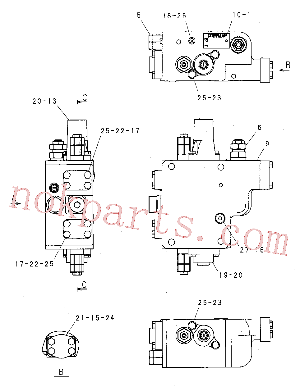 CAT 201-9352 for 319C Excavator(EXC) hydraulic system 244-8401 Assembly