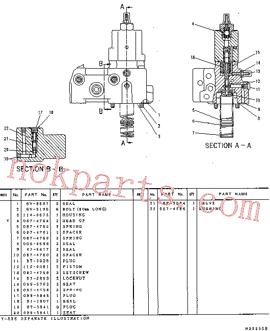 CAT 087-4761 for 322-A LN Excavator(EXC) hydraulic system 114-0670 Assembly