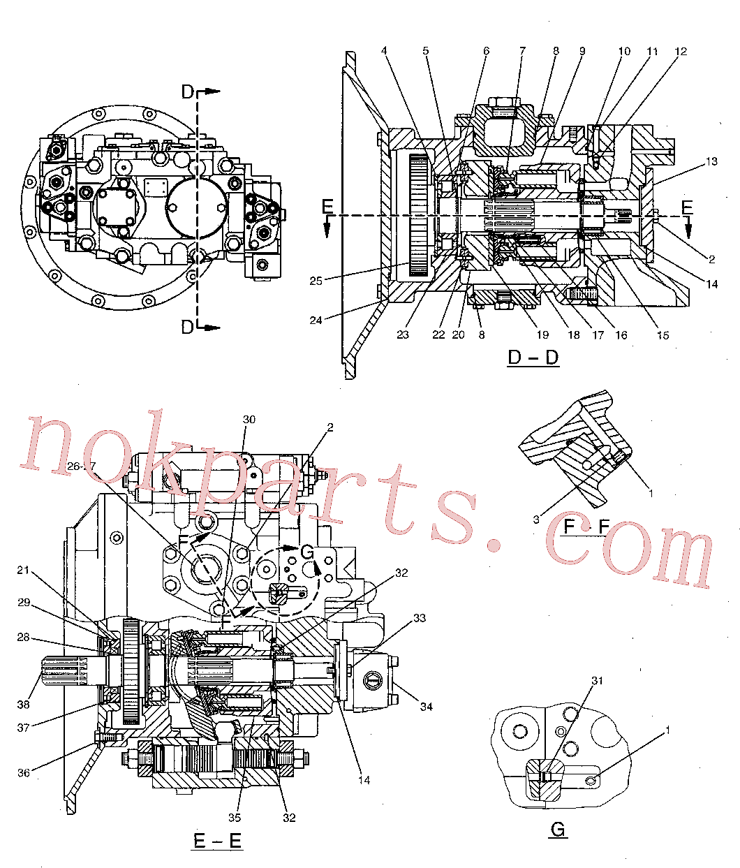 CAT 129-7979 for 325C L Excavator(EXC) hydraulic system 173-3381 Assembly