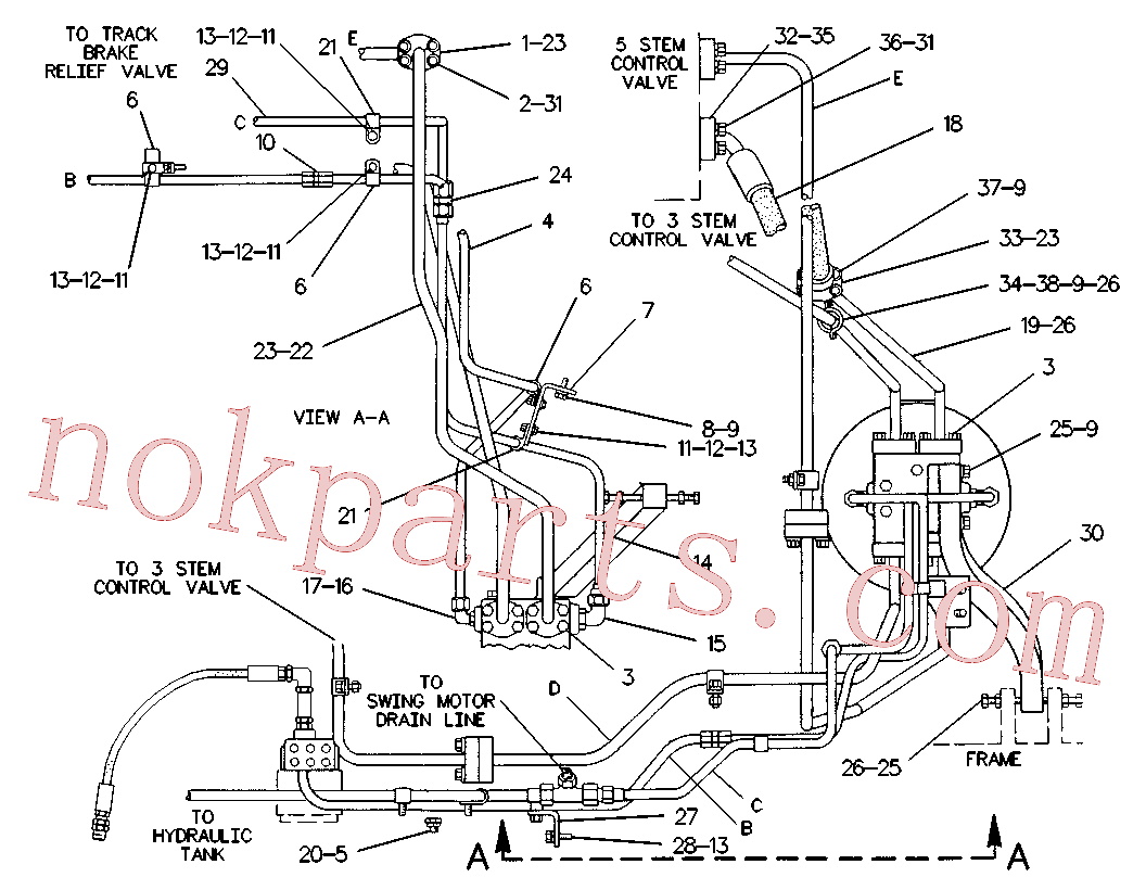 CAT 7X-0310 for 235B Excavator(EXC) hydraulic system 6W-9883 Assembly