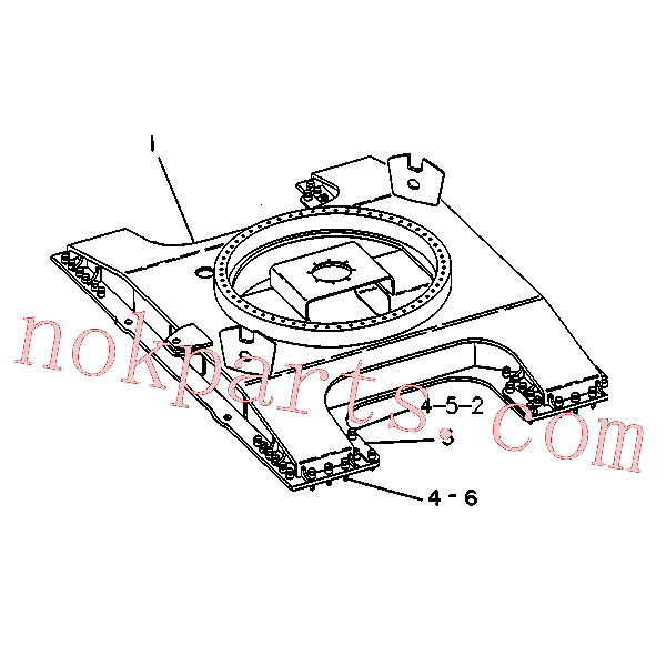CAT 7X-0531 for 245 Excavator(EXC) frame and body 6C-0695 Assembly
