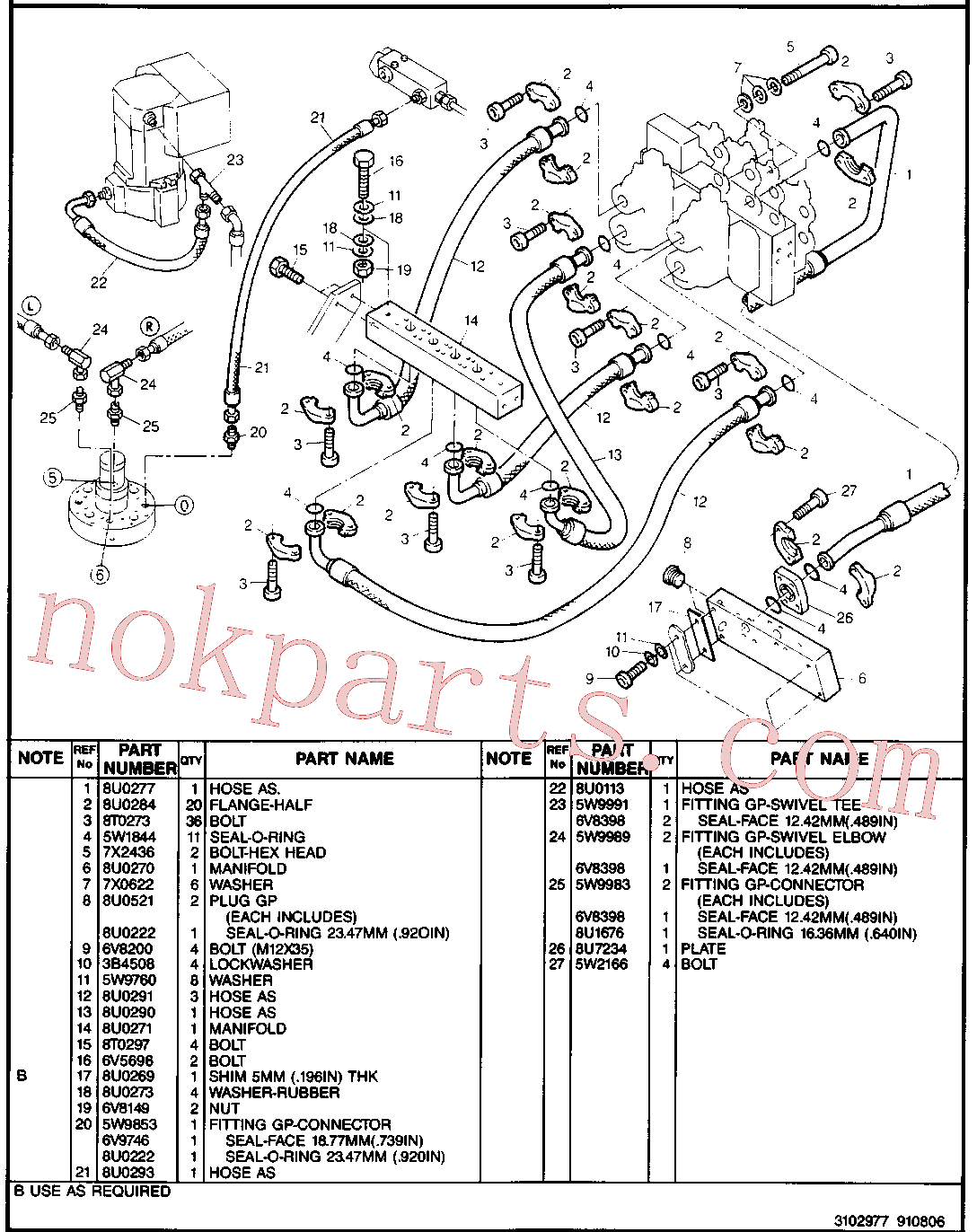 CAT 8U-3454 for 224B Excavator(EXC) hydraulic system 8U-3031 Assembly