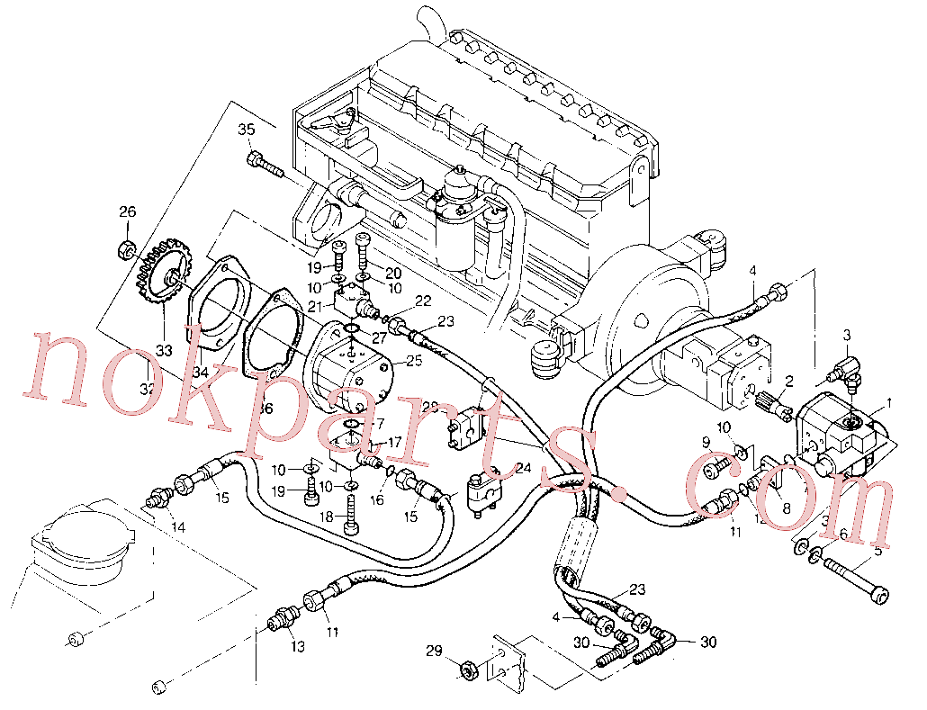 5W-6014 Washer use for Caterpillar 206B Excavator