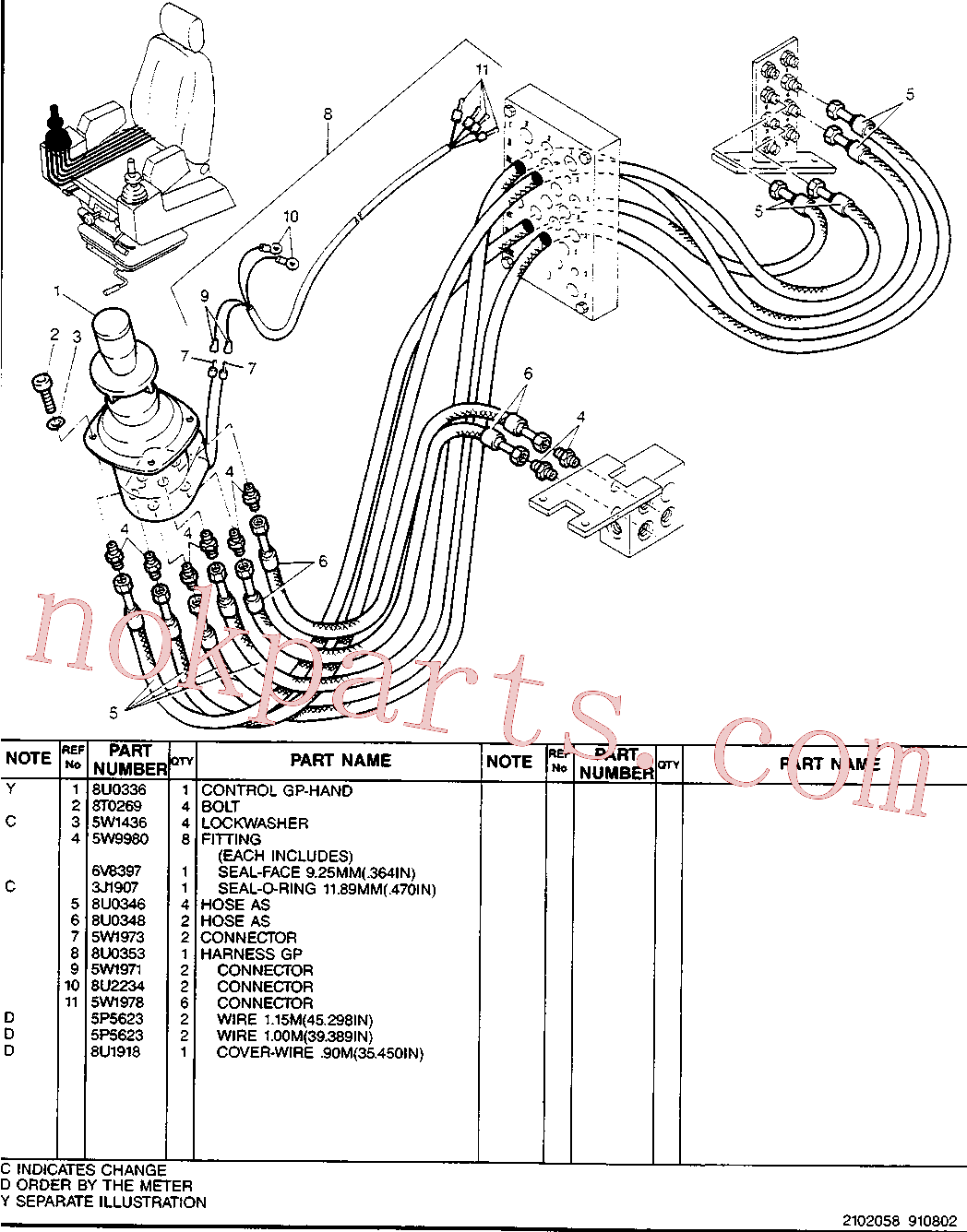 CAT 5W-9235 for 213B Excavator(EXC) hydraulic system 5W-9818 Assembly