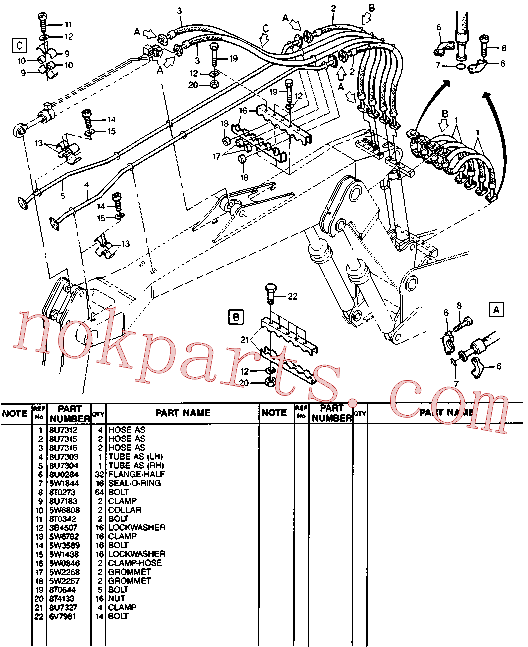 CAT 8U-4715 for 213B Excavator(EXC) hydraulic system 8U-7832 Assembly
