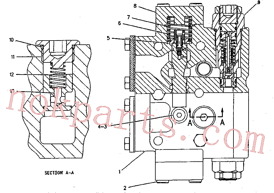 CAT 119-5360 for 322B L Excavator(EXC) hydraulic system 199-0504 Assembly