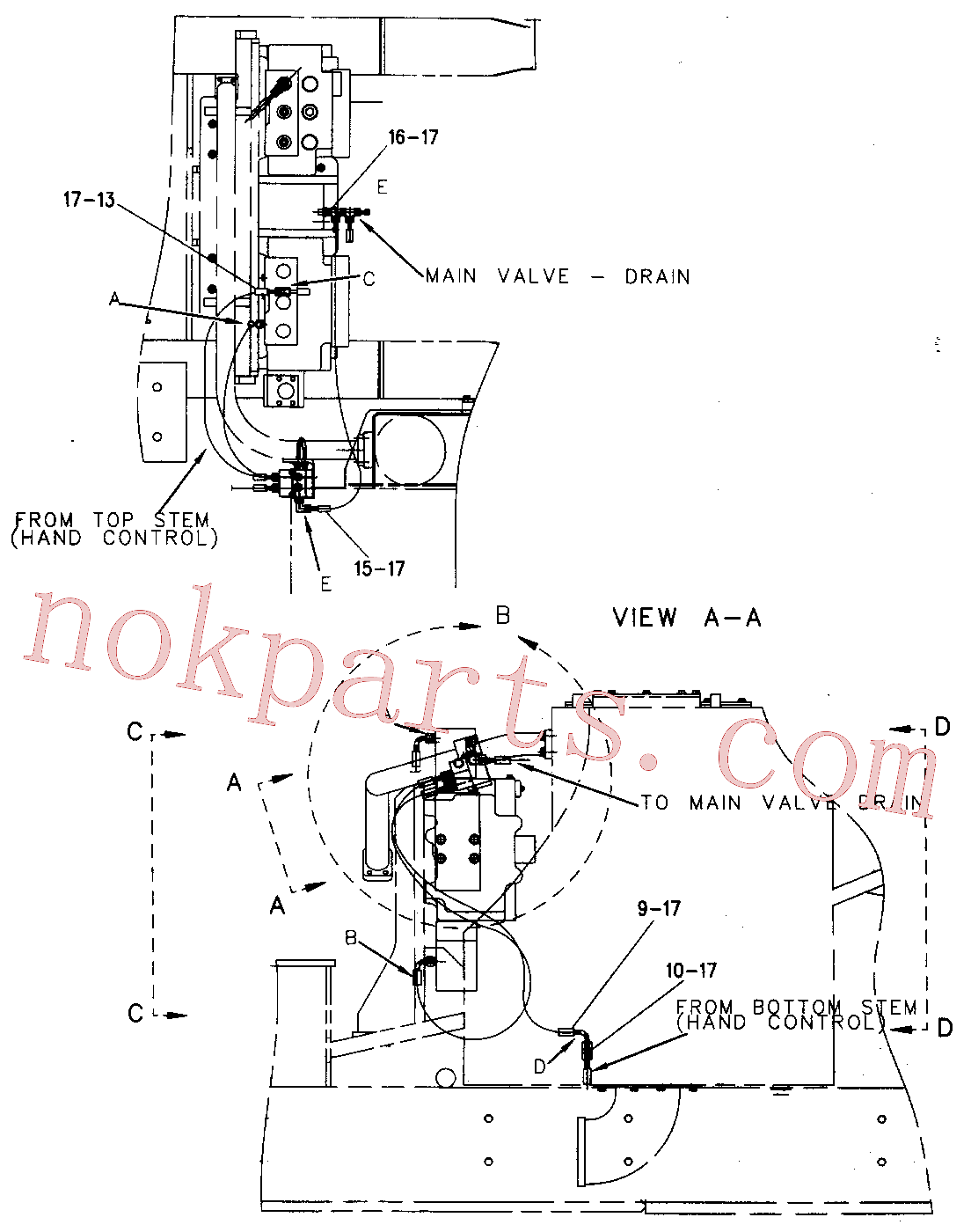 CAT 7X-2538 for TH82 Telehandler(TMH) hydraulic system 136-7103 Assembly