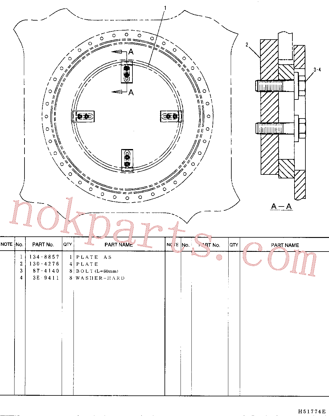 CAT 447-1707 for 390F Excavator(EXC) frame and body 134-8856 Assembly