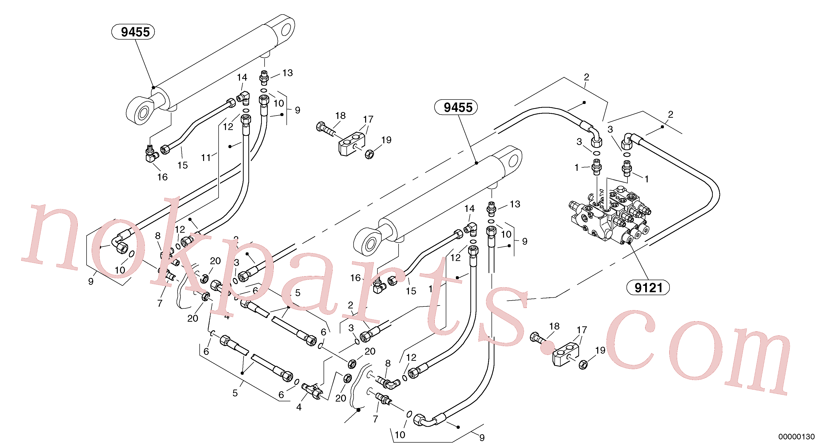 ZM4339866 for Volvo Hydraulic lines - lift hydraulic(00000130 assembly)