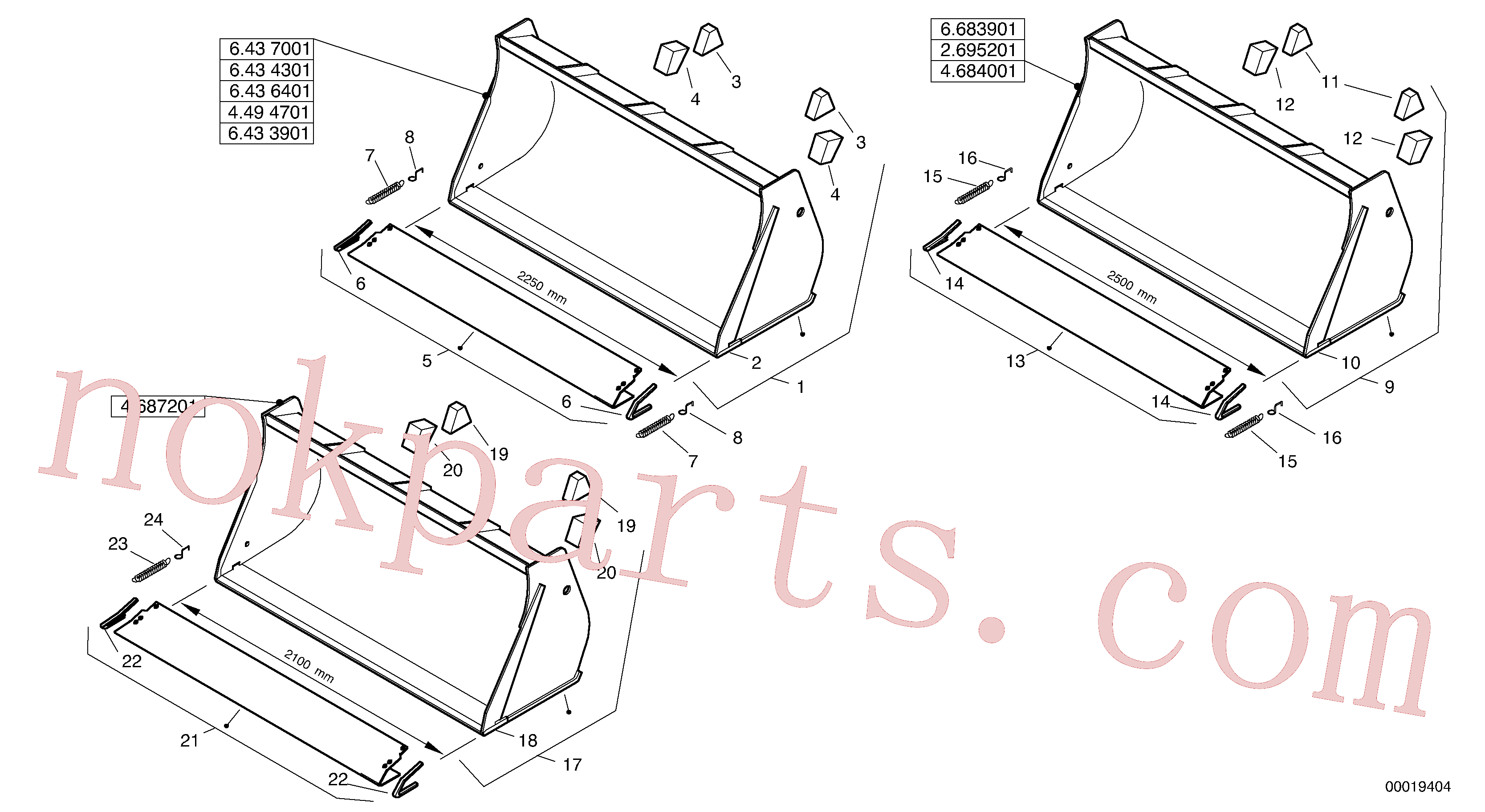 ZM2803785 for Volvo Bucket without teeth - Tpz(00019404 assembly)