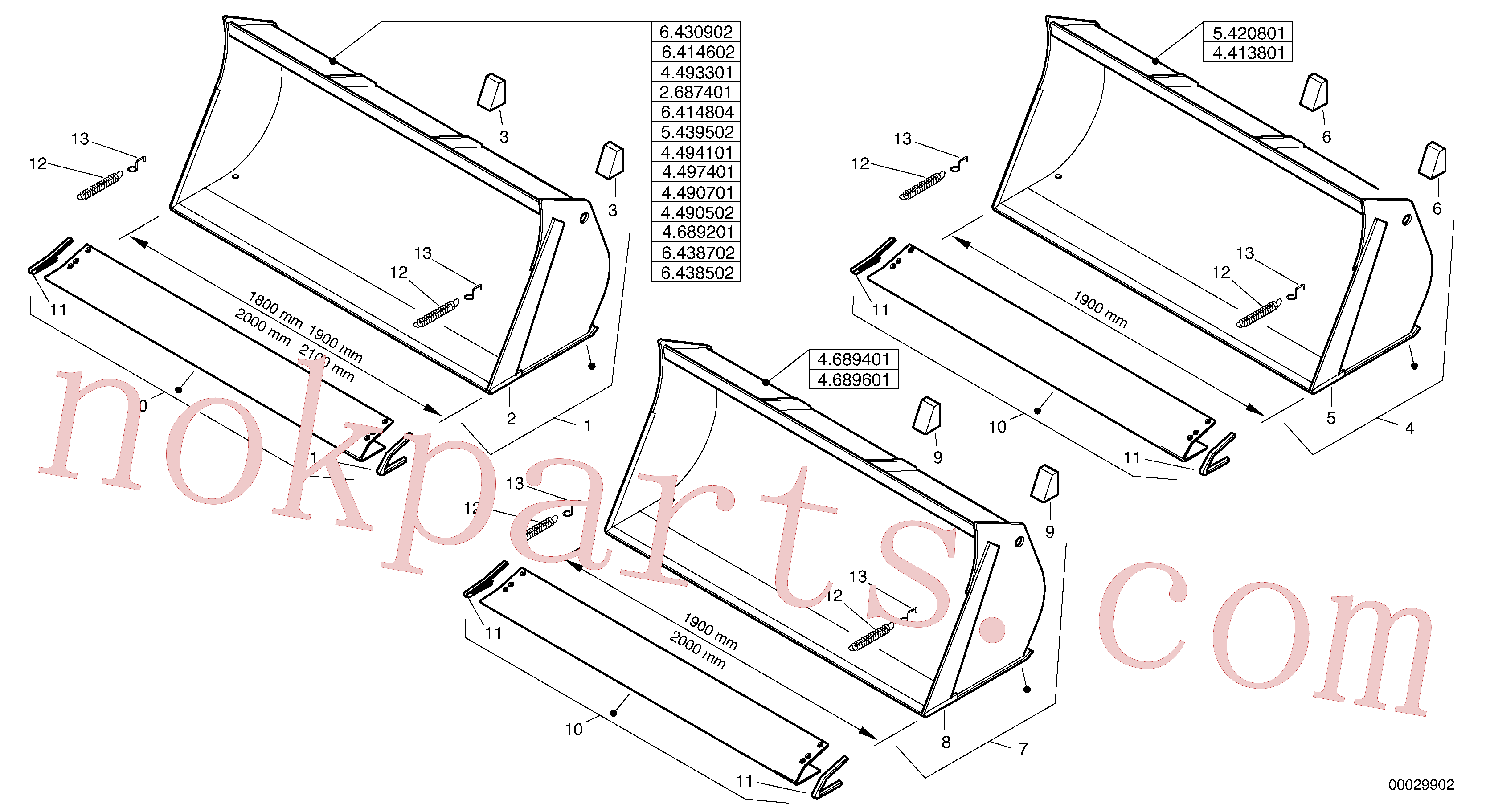 ZM2813494 for Volvo Bucket without teeth(00029902 assembly)