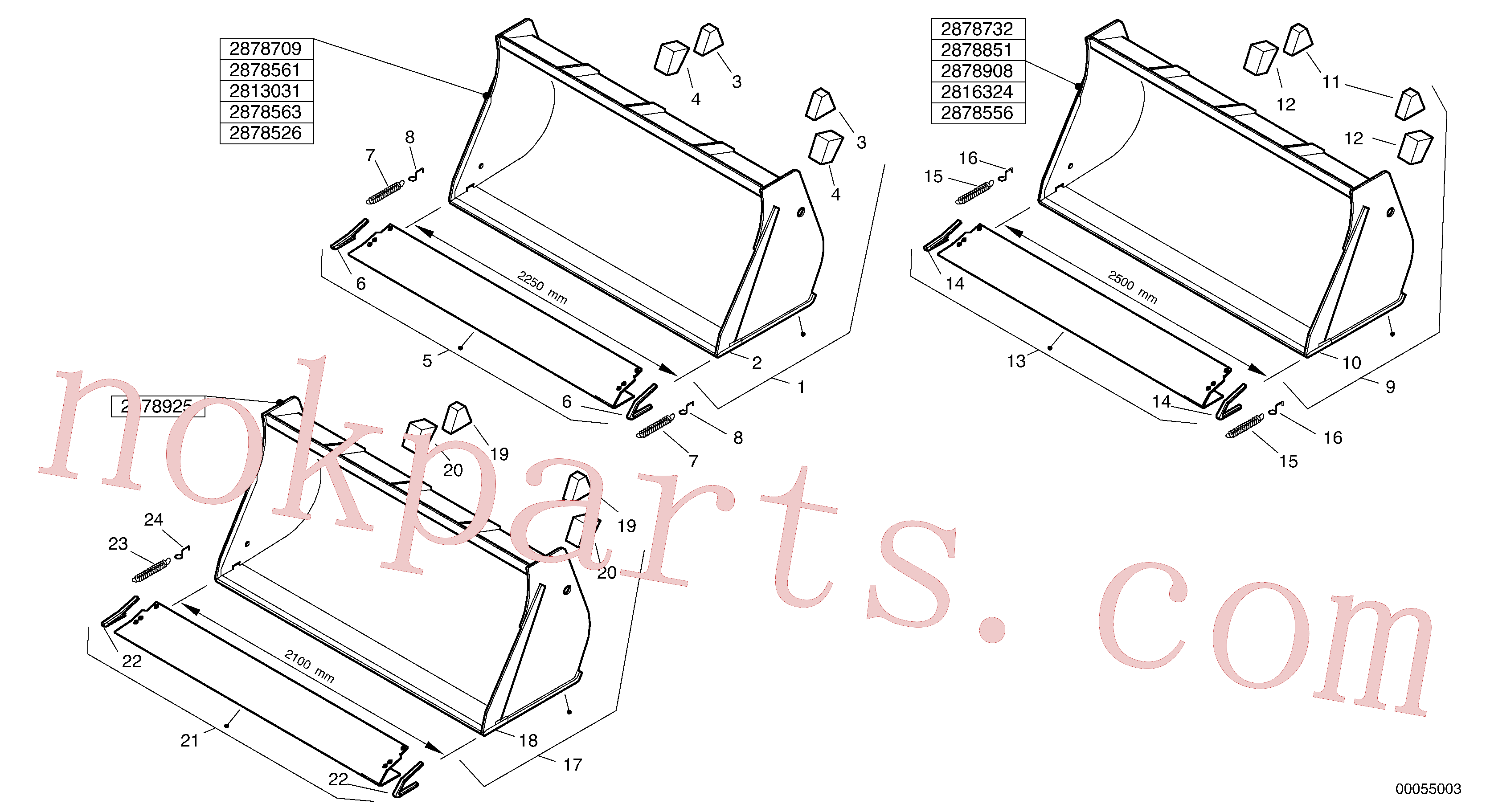 ZM2803785 for Volvo Bucket without teeth - TPZ(00055003 assembly)