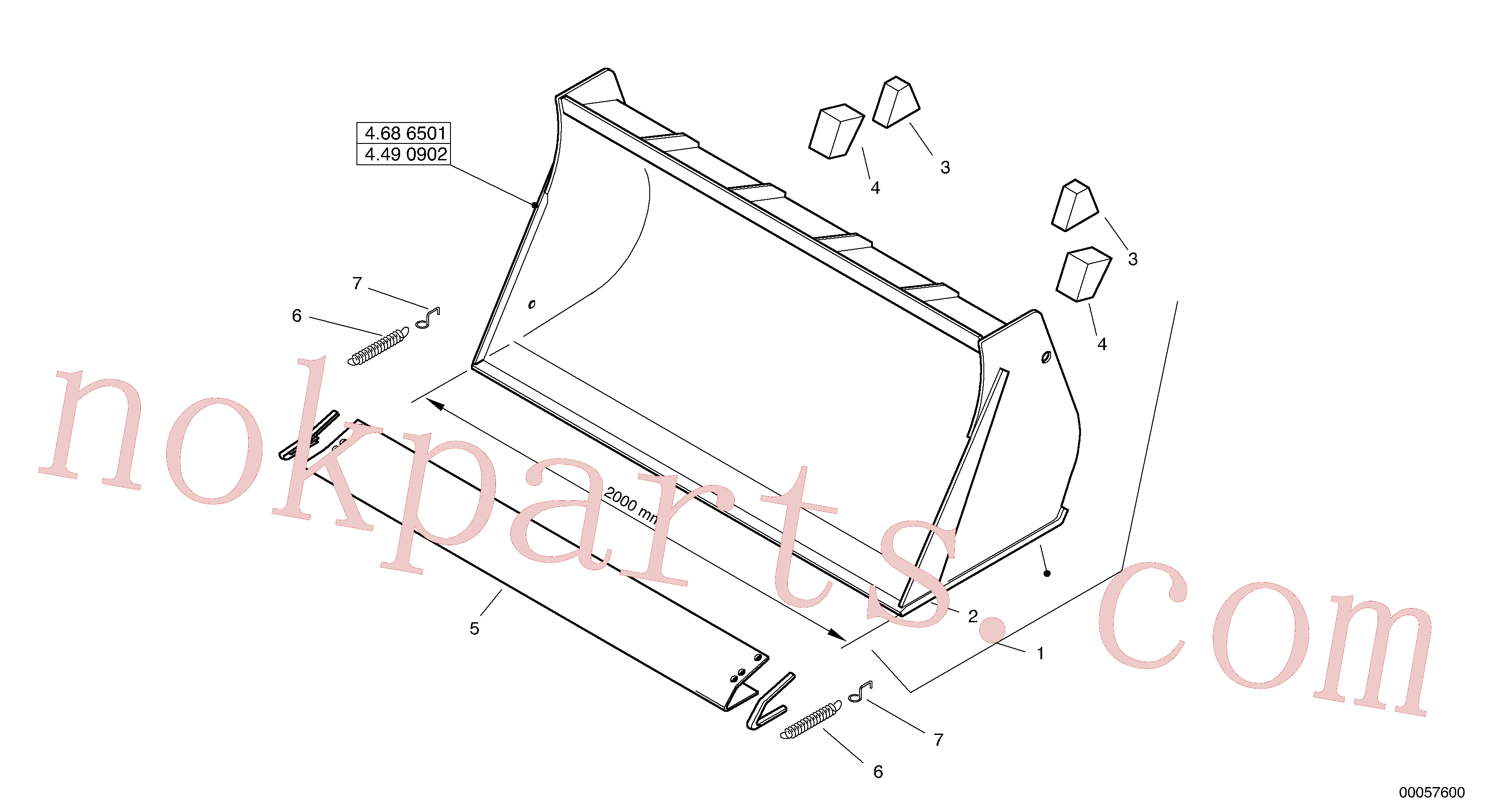 ZM2803785 for Volvo Bucket without teeth - TPZ(00057600 assembly)