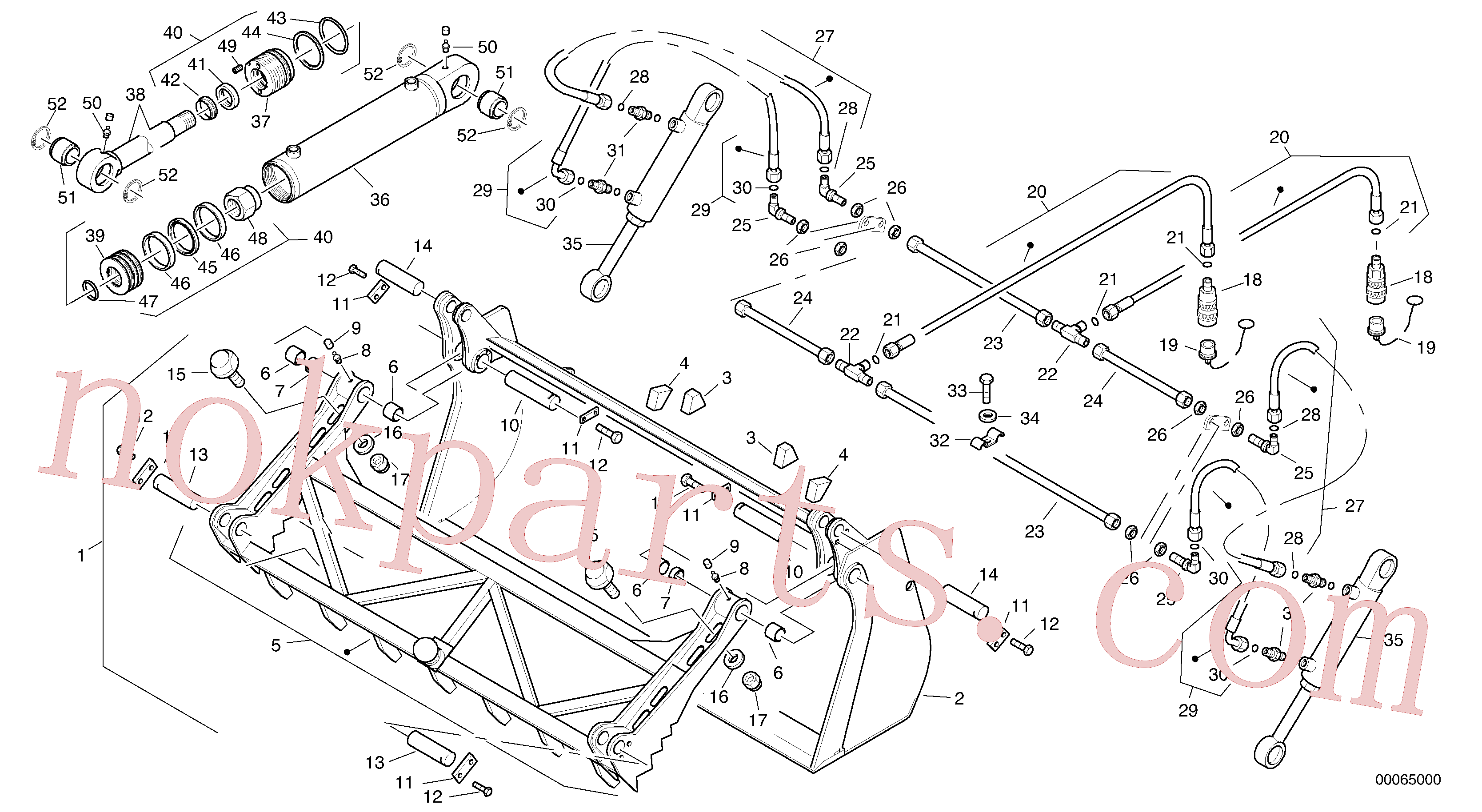 ZM2803785 for Volvo Grab bucket - TPZ(00065000 assembly)