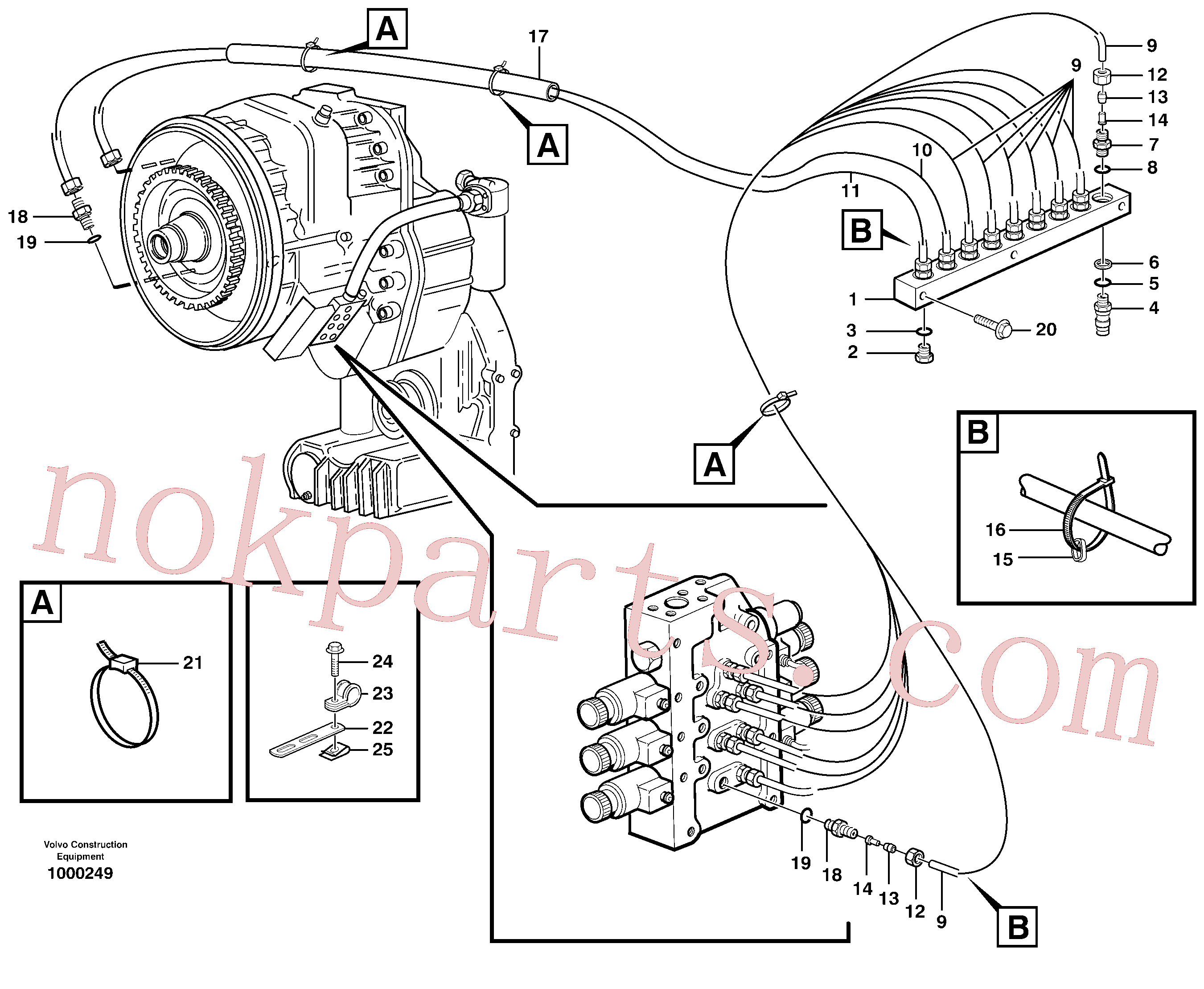 VOE13949997 for Volvo Testing block(1000249 assembly)