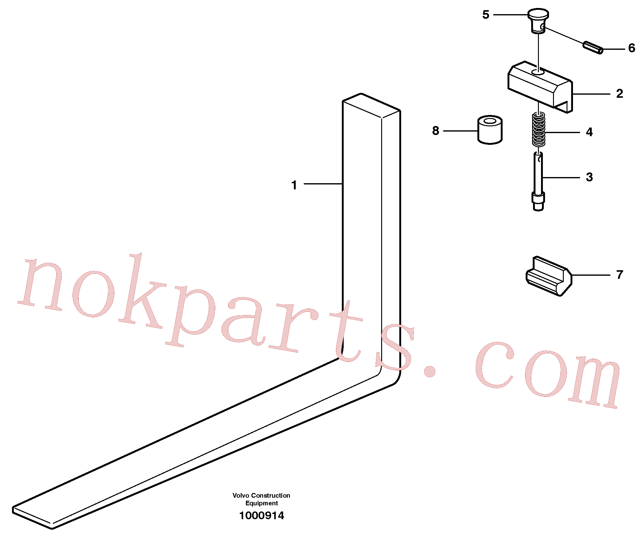 VOE11111317 for Volvo Fork tines(1000914 assembly)
