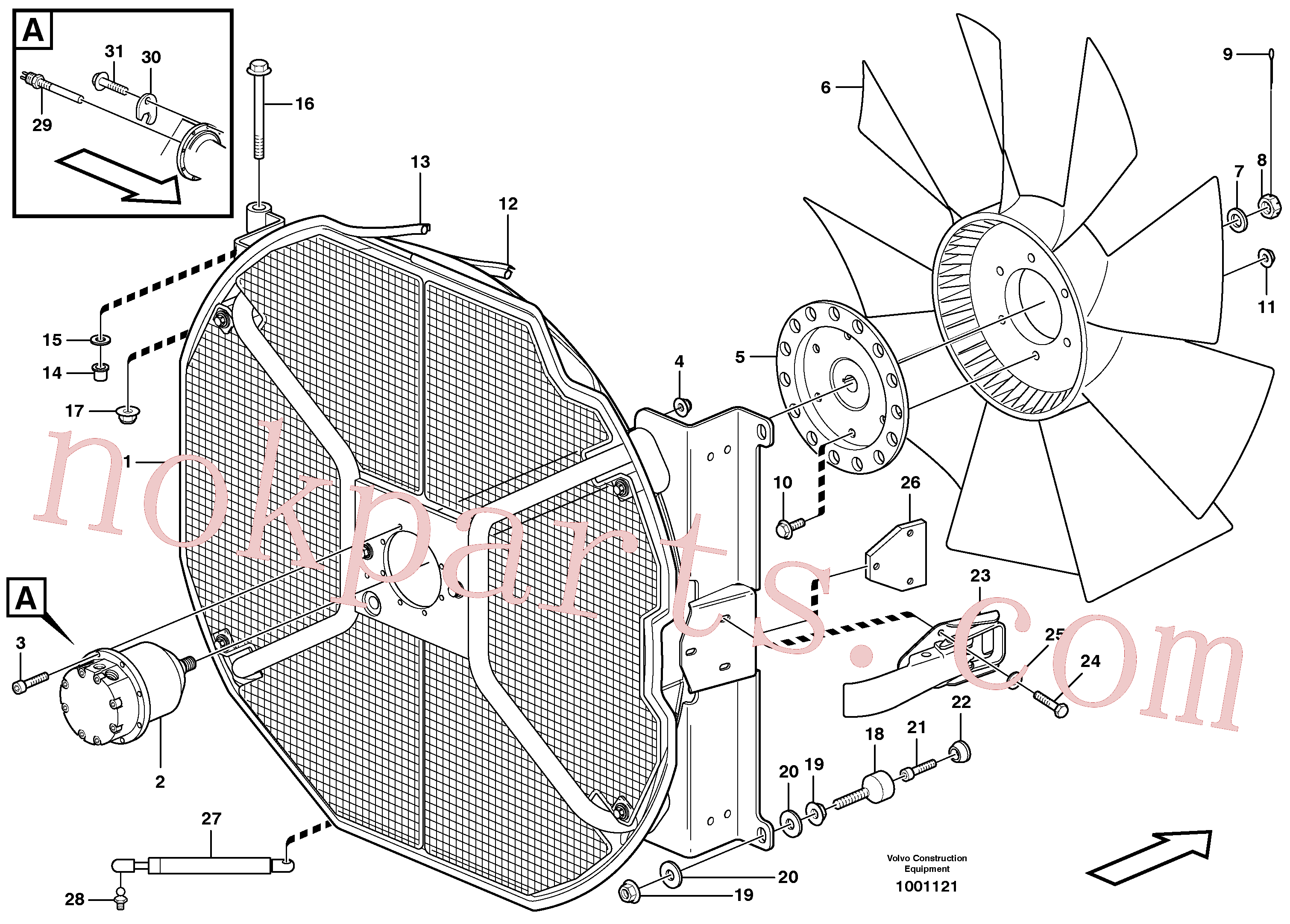 VOE960145 for Volvo Fan and fan housing(1001121 assembly)