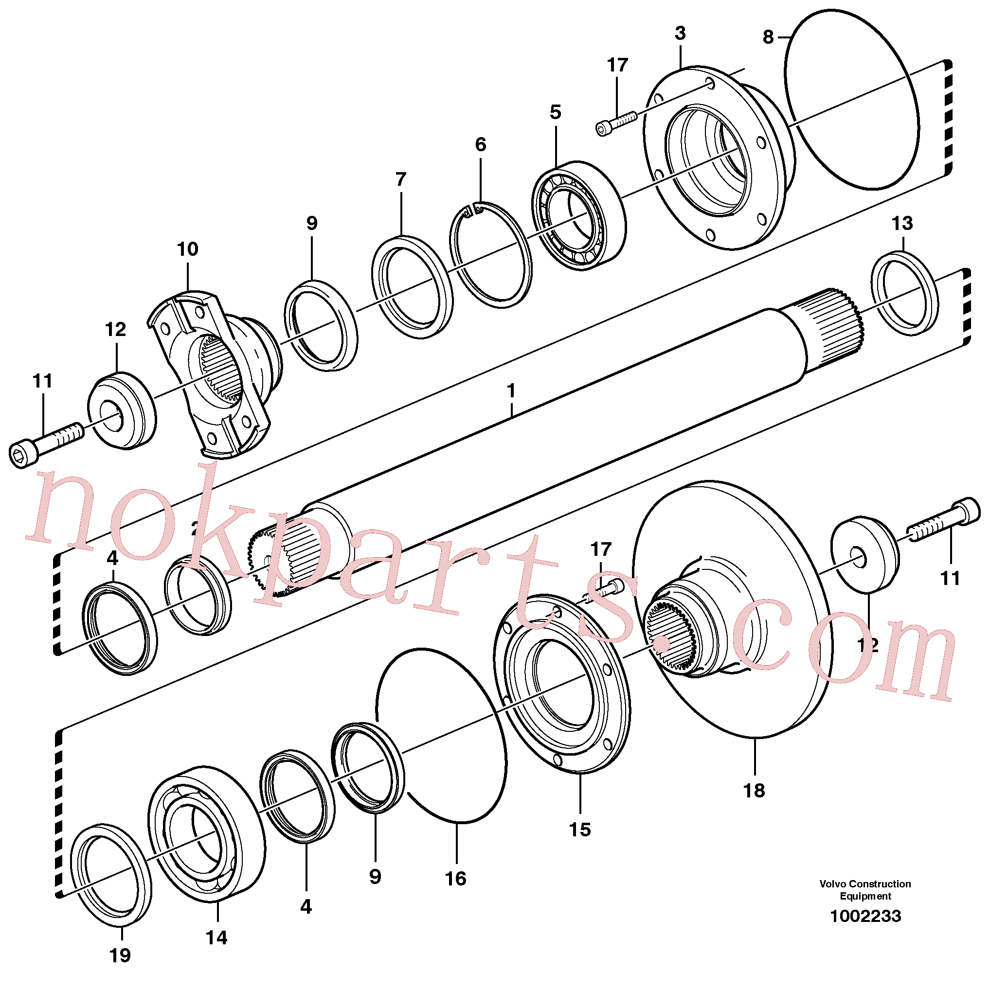 VOE14023257 for Volvo Intermediate shaft(1002233 assembly)