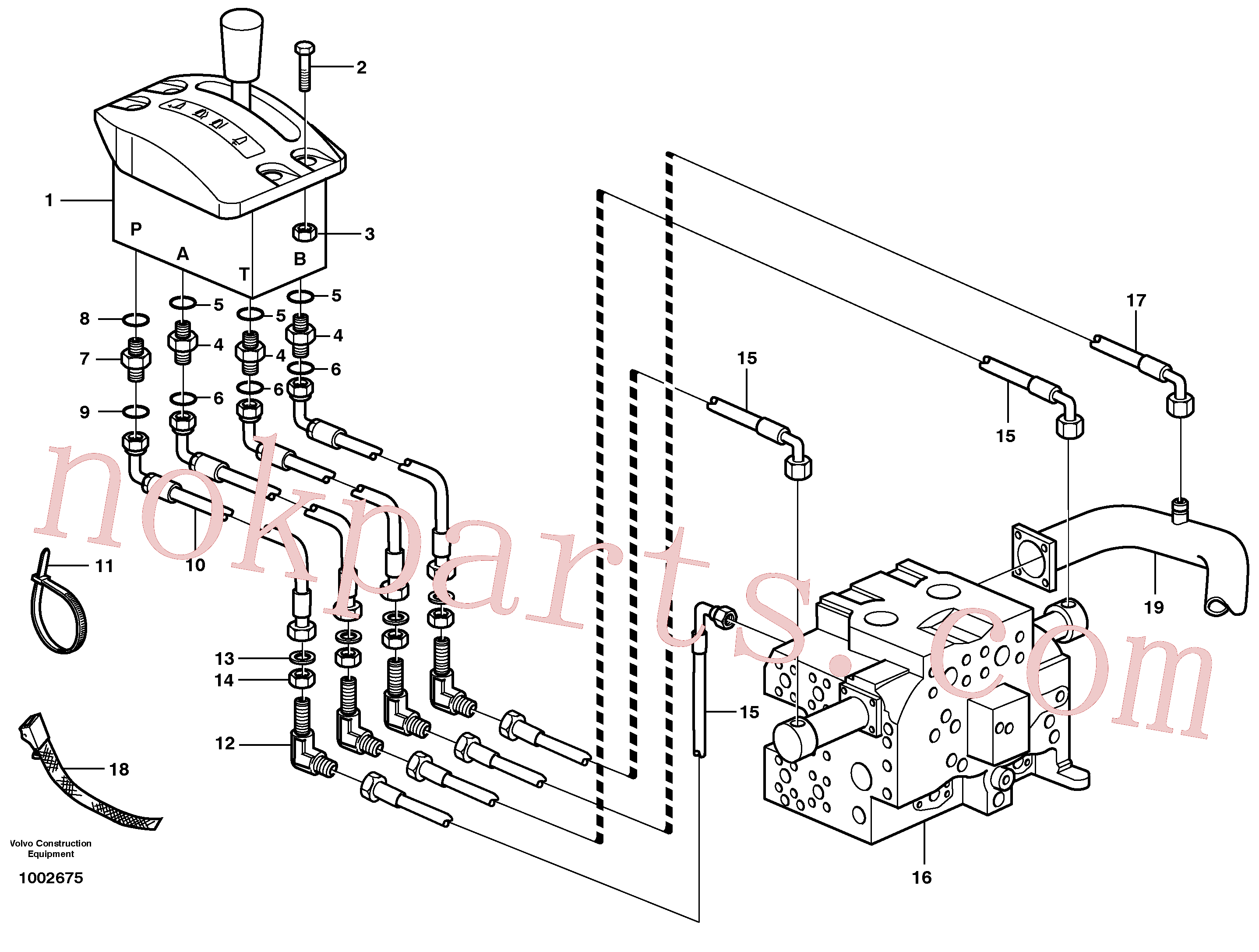 VOE14572455 for Volvo Servo system, tipper control(1002675 assembly)