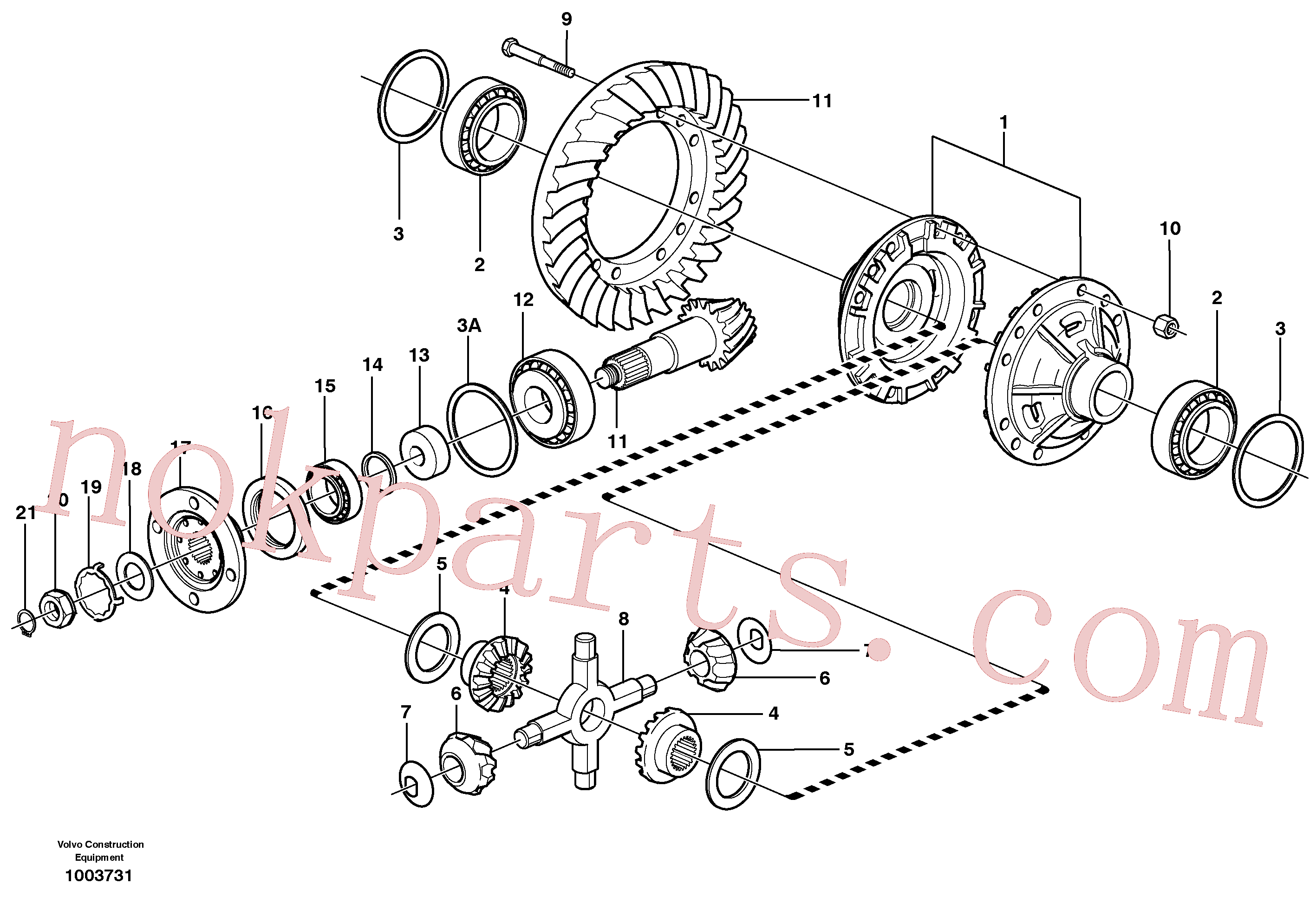 VOE11168042 for Volvo Final drive, rear(1003731 assembly)
