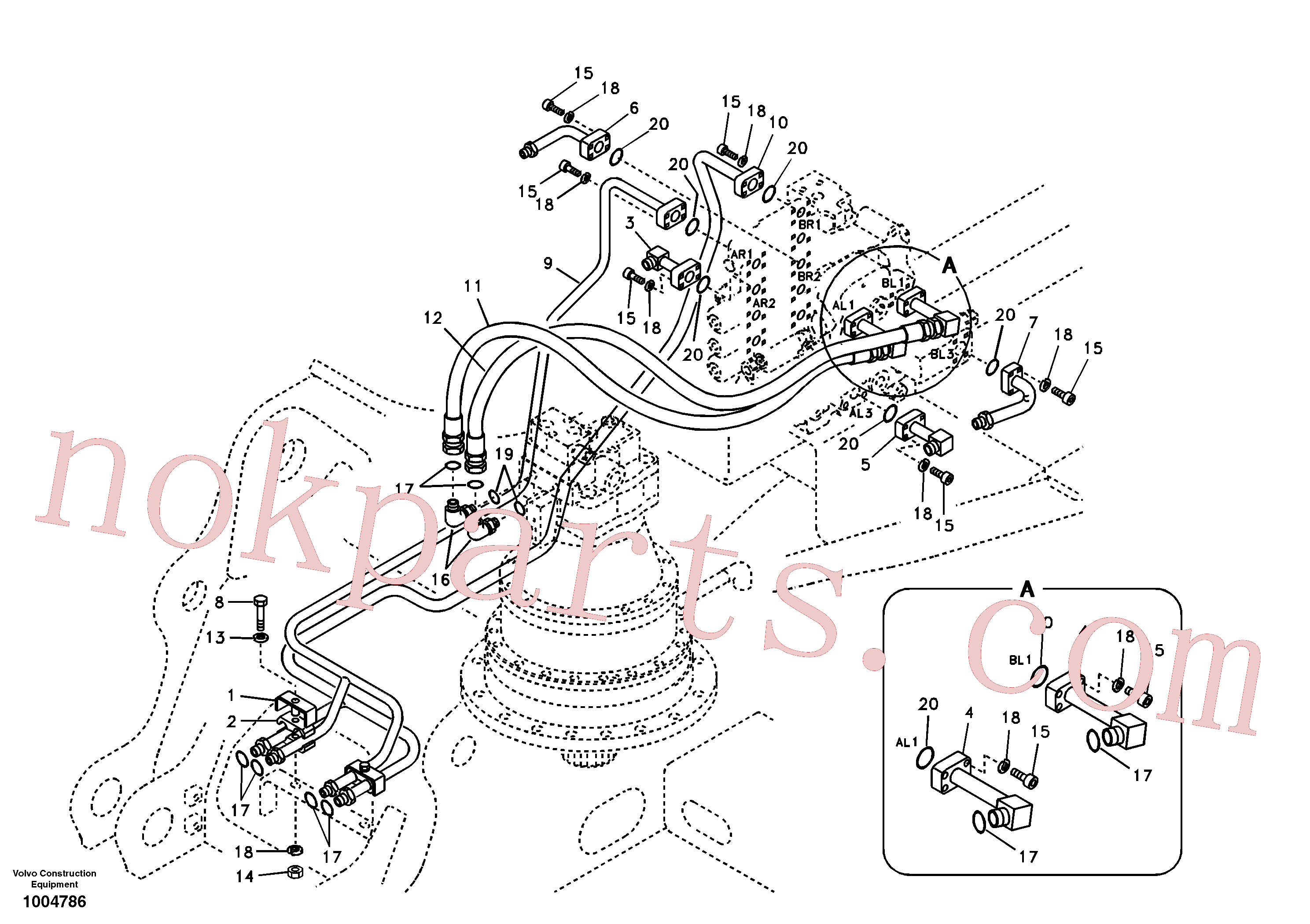 China Made VOE14518371 Pipe parts for Volvo Excavator