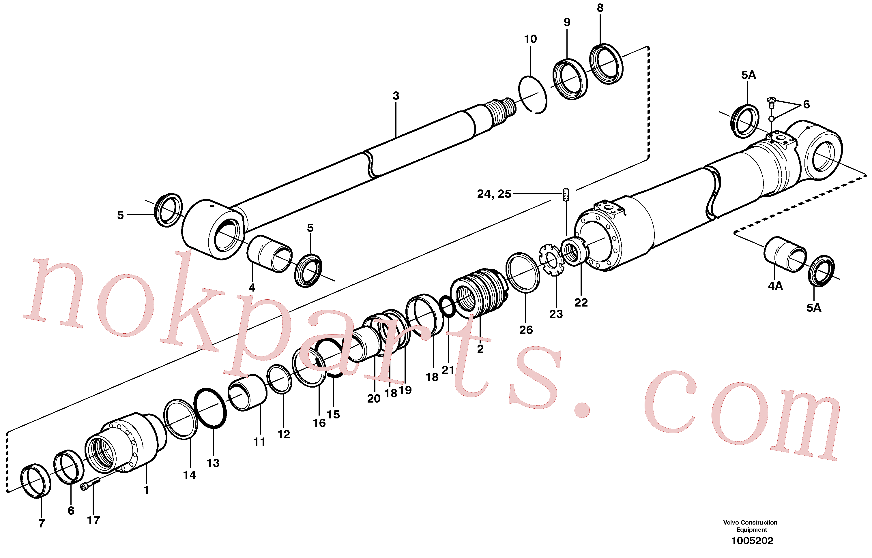 SA9565-11250 for Volvo Bucket cylinder, Boom cylinder(1005202 assembly)