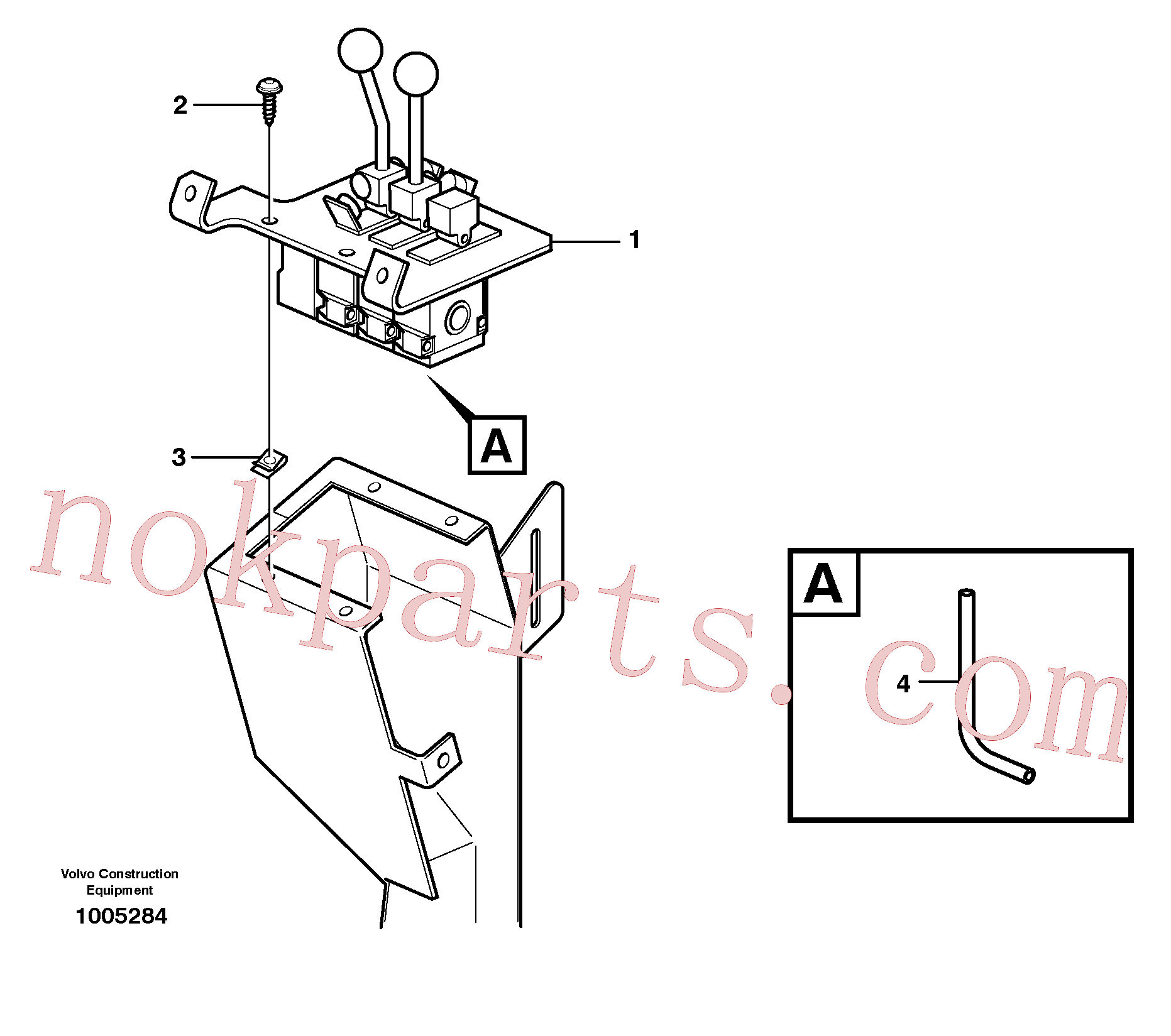 VOE943369 for Volvo Servo valve with fitting parts(1005284 assembly)