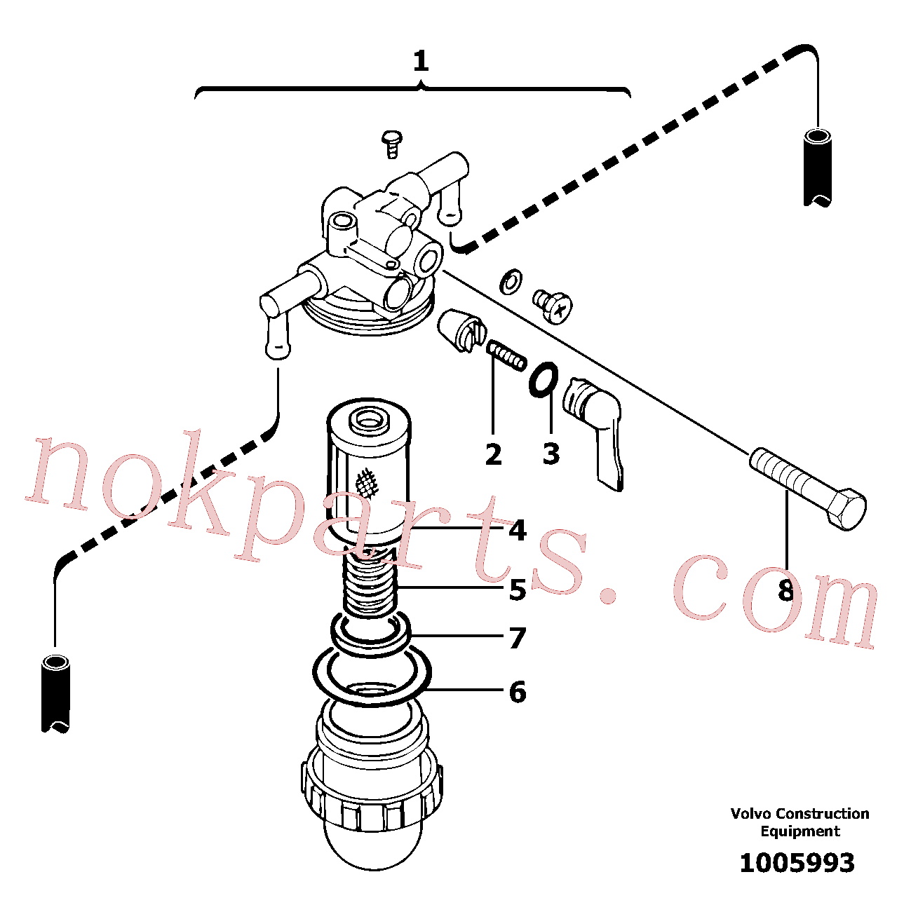 VOE13965178 for Volvo Sediment bowl(1005993 assembly)