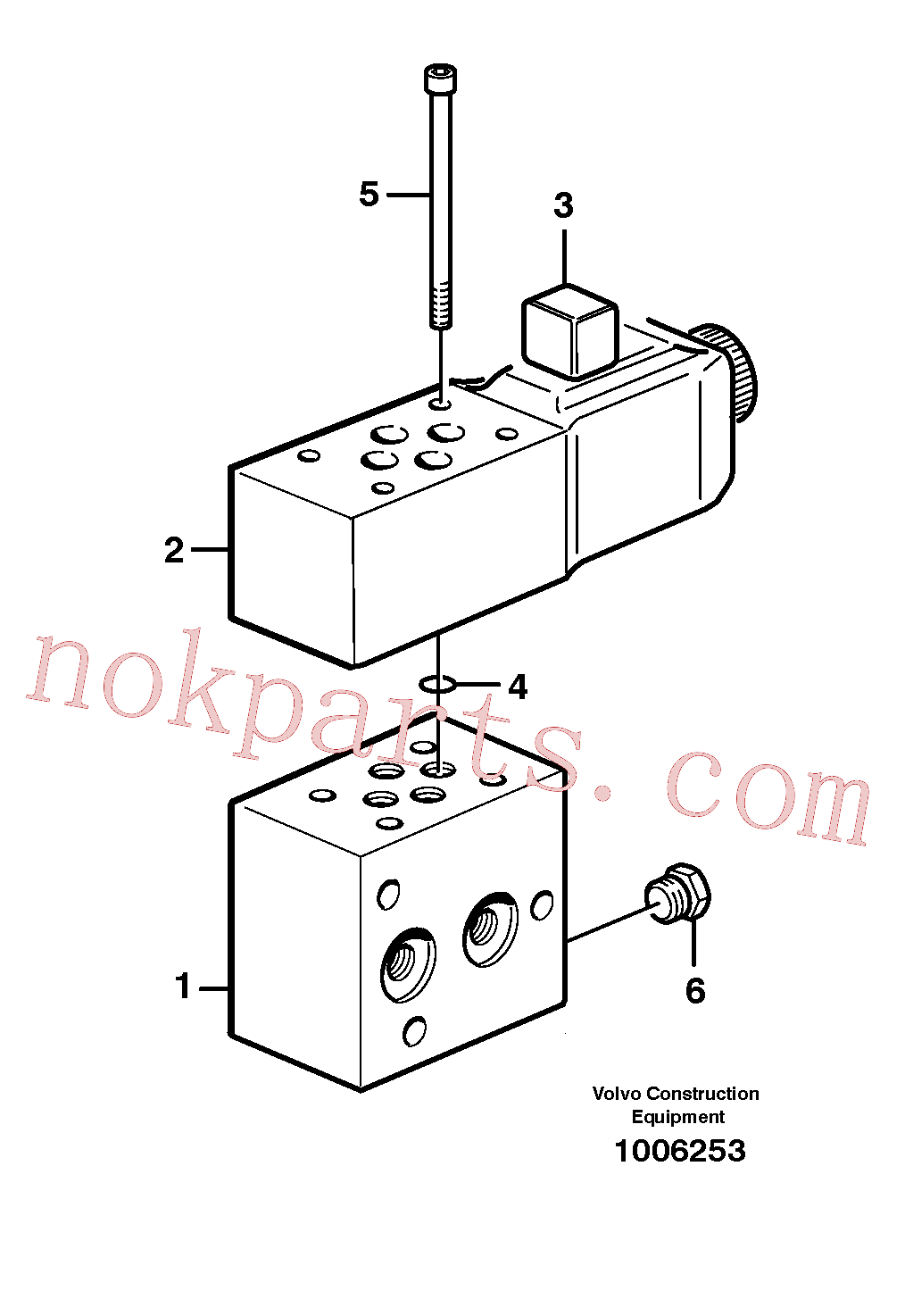VOE914390 for Volvo Connecting block(1006253 assembly)