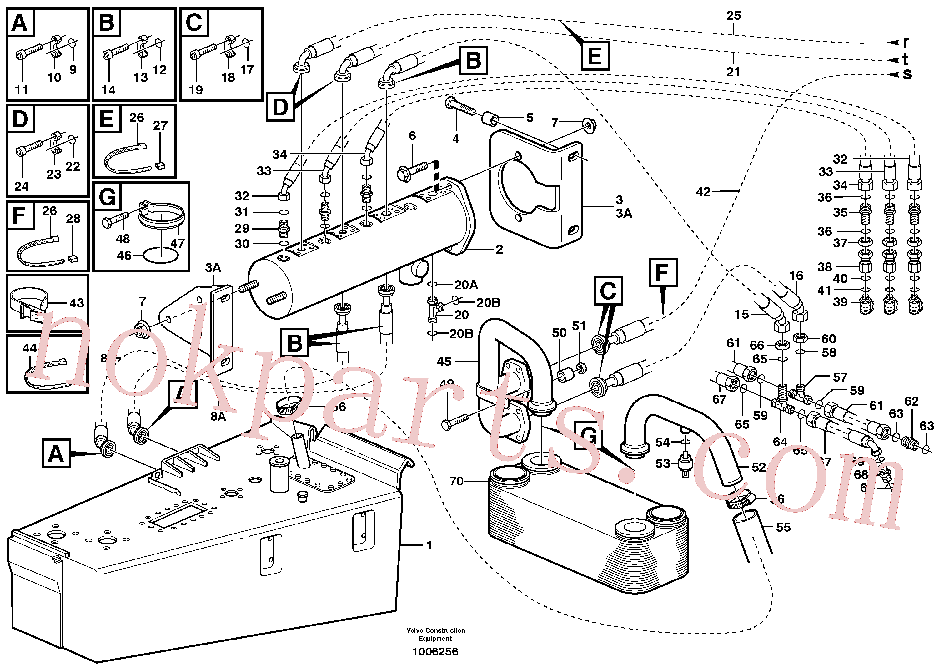 VOE11999448 for Volvo Brake cooling system(1006256 assembly)
