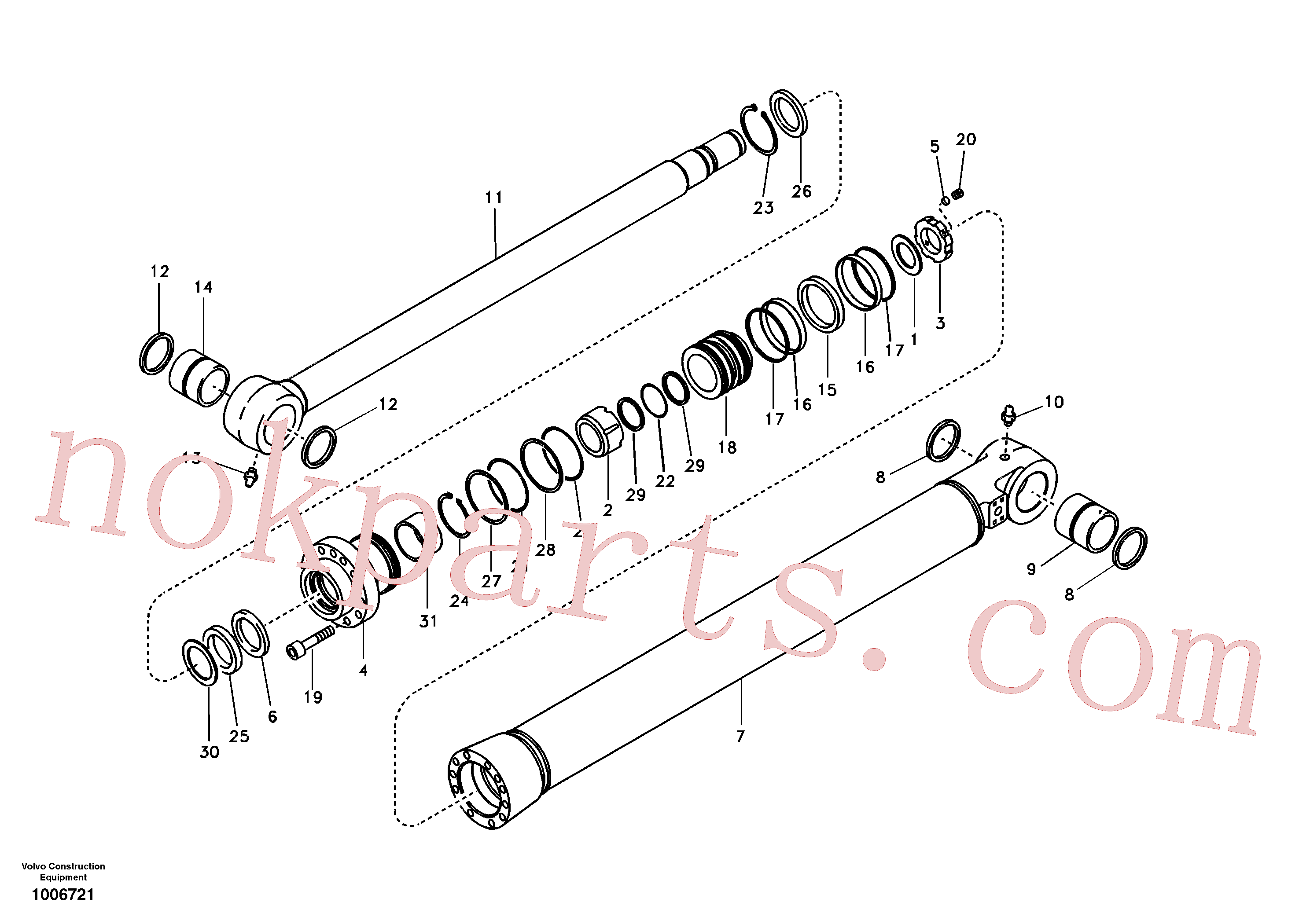 VOE14517942 for Volvo Bucket cylinder(1006721 assembly)
