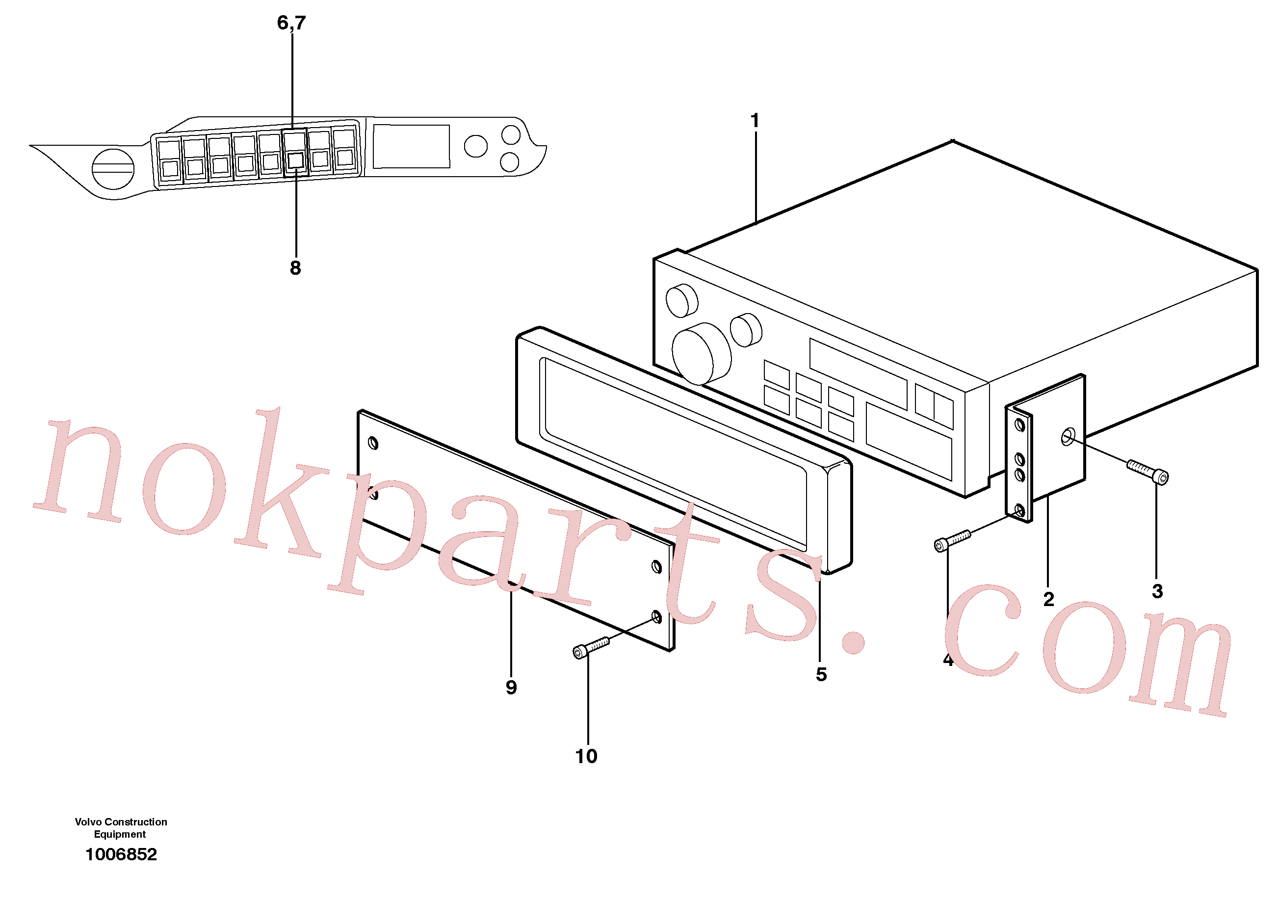 VOE13969514 for Volvo Radio installation with converter(1006852 assembly)