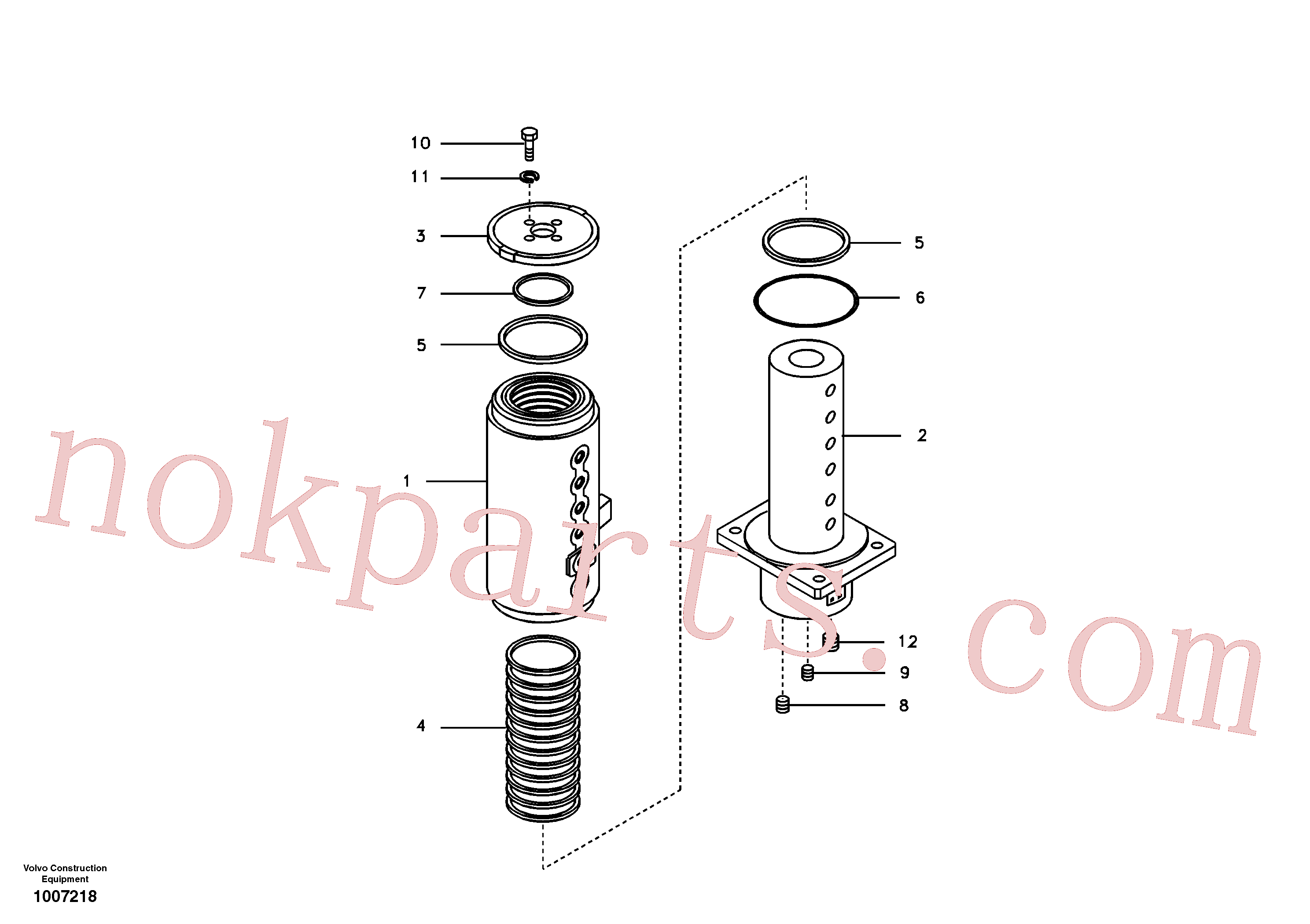VOE990648 for Volvo Turning joint(1007218 assembly)