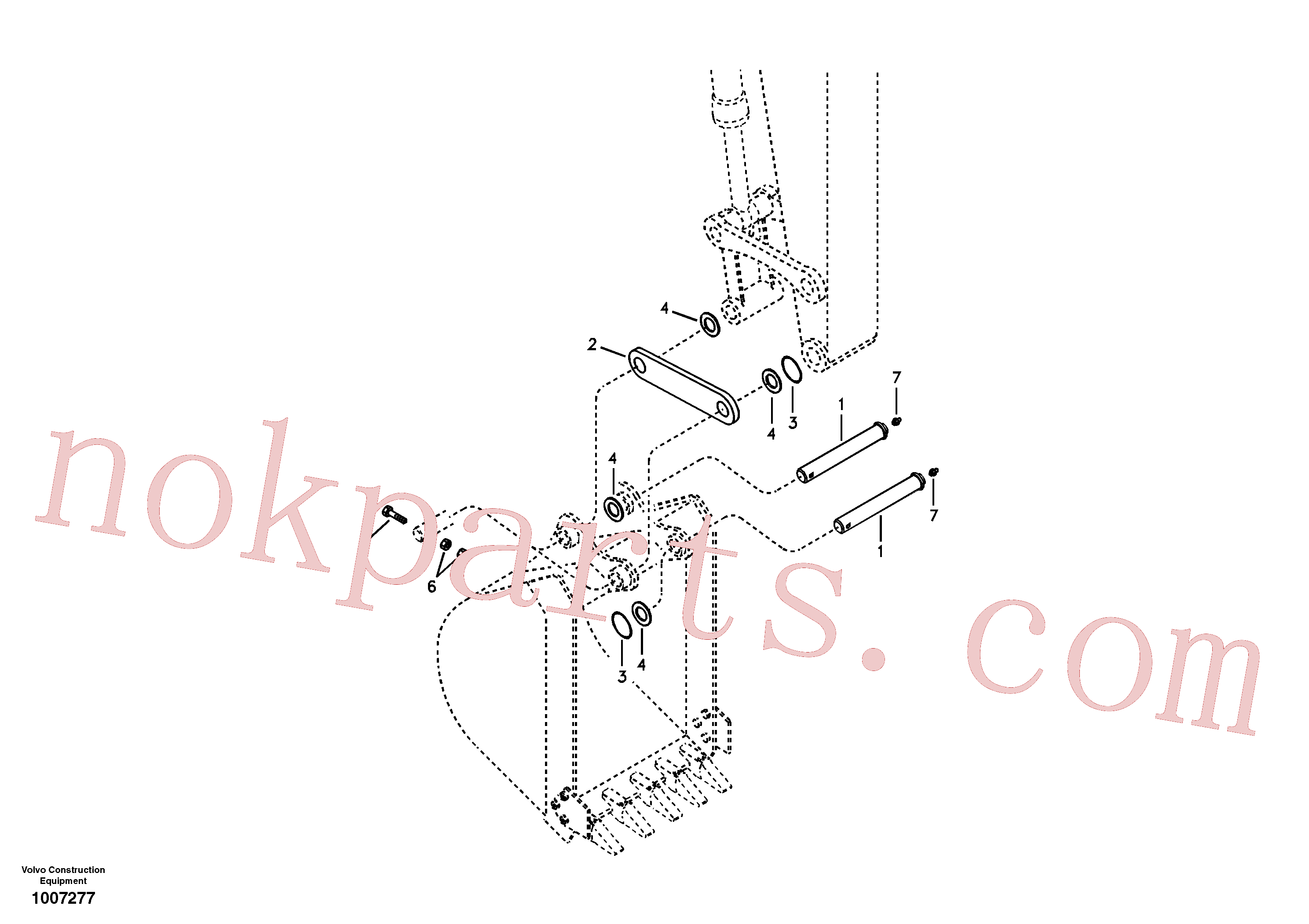 SA9481-11003 for Volvo Linkage for no bucket(1007277 assembly)