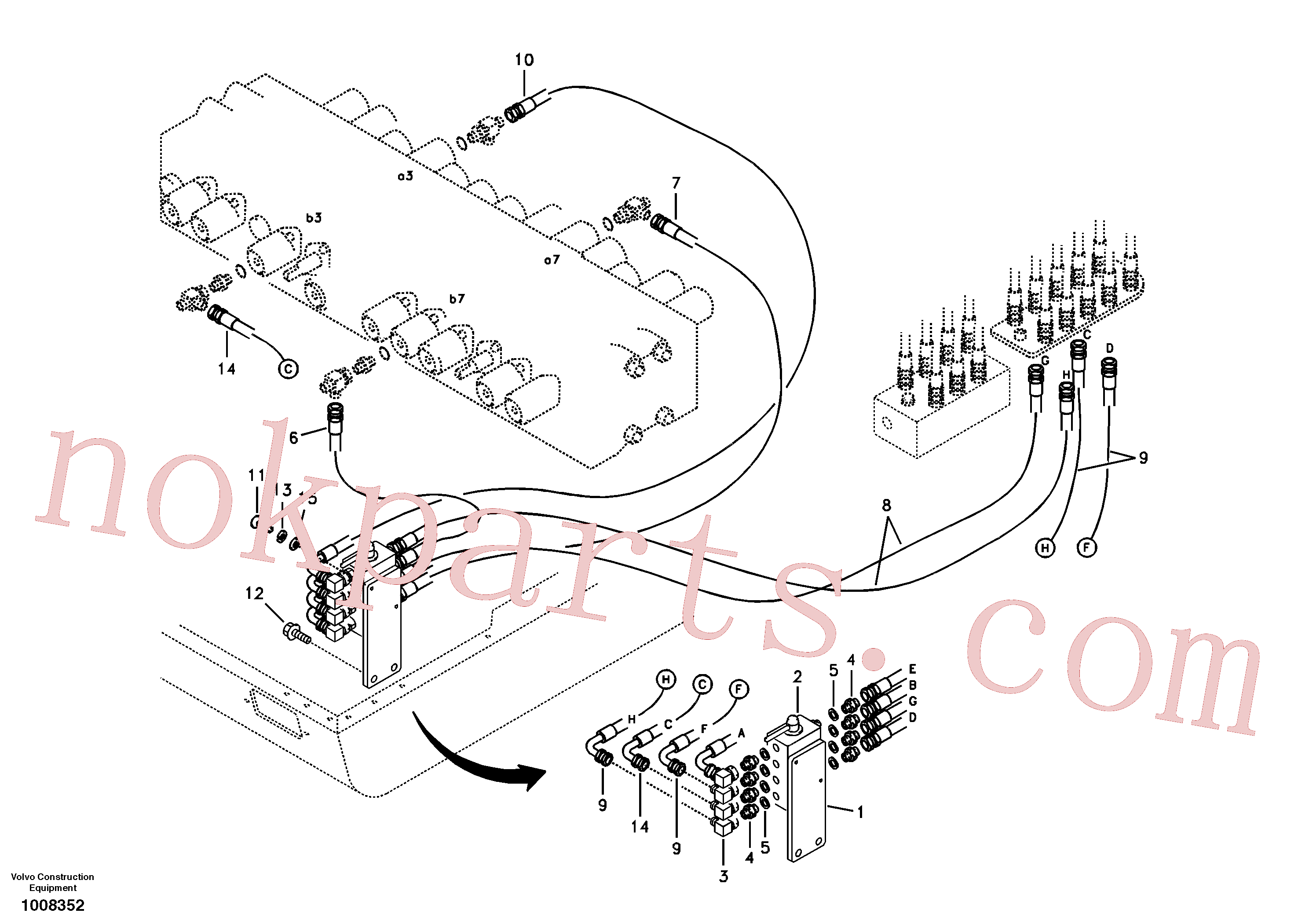 VOE11802737 for Volvo Servo system, changing lever function(1008352 assembly)