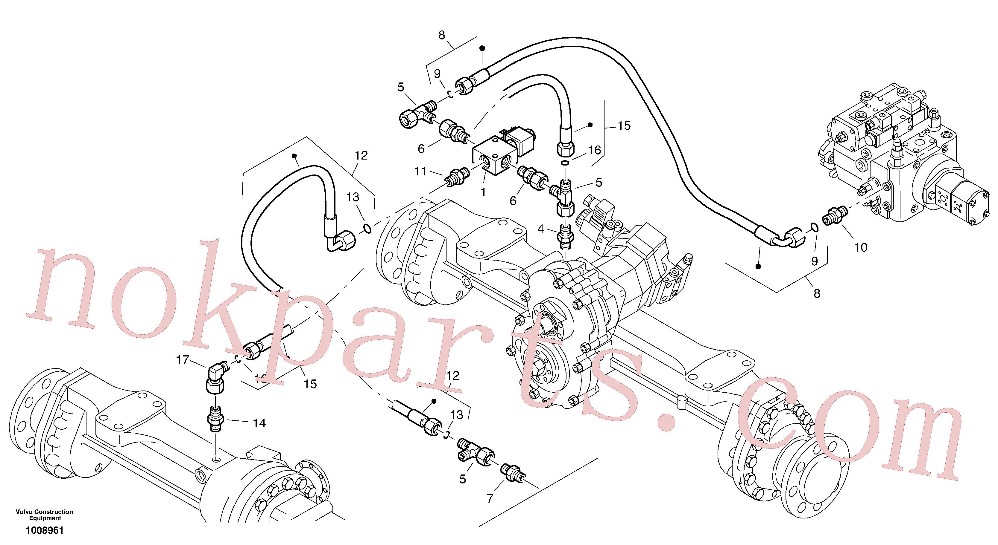 VOE11306420 for Volvo Differential lock(1008961 assembly)