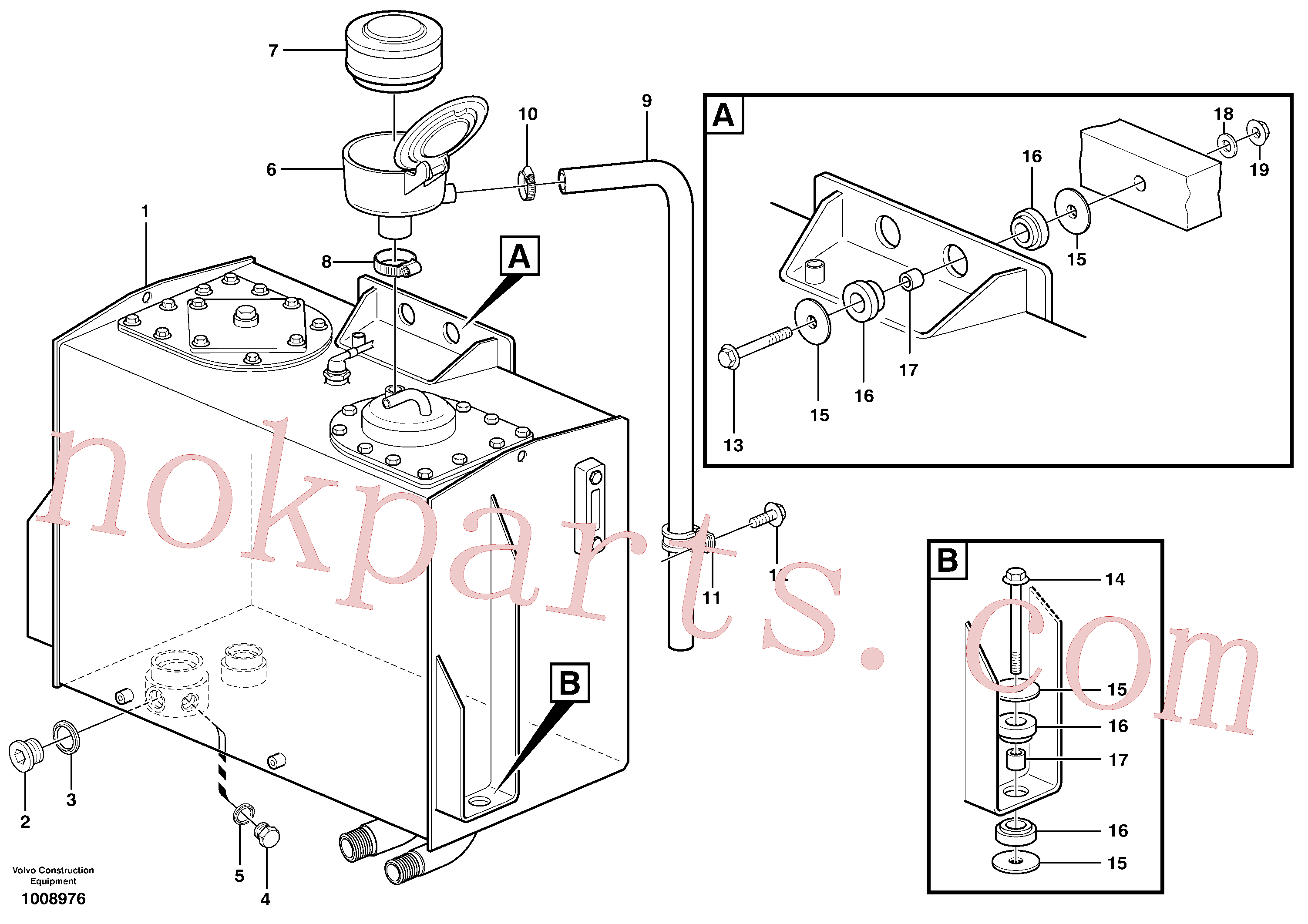 VOE943476 for Volvo Hydraulic oil tank, with fitting parts(1008976 assembly)