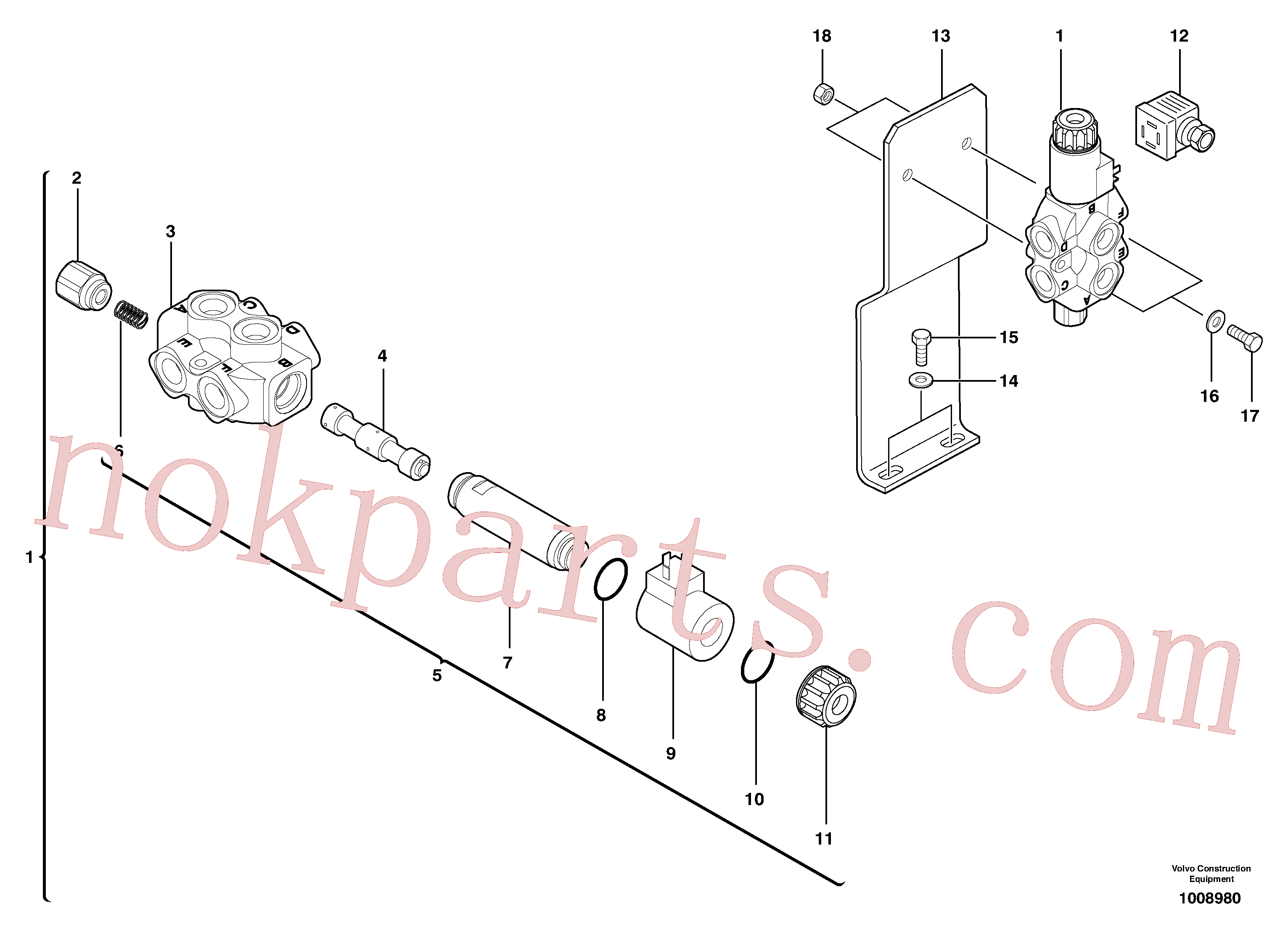 PJ5130051 for Volvo Slewing-offset selector switch ( for valve )(1008980 assembly)