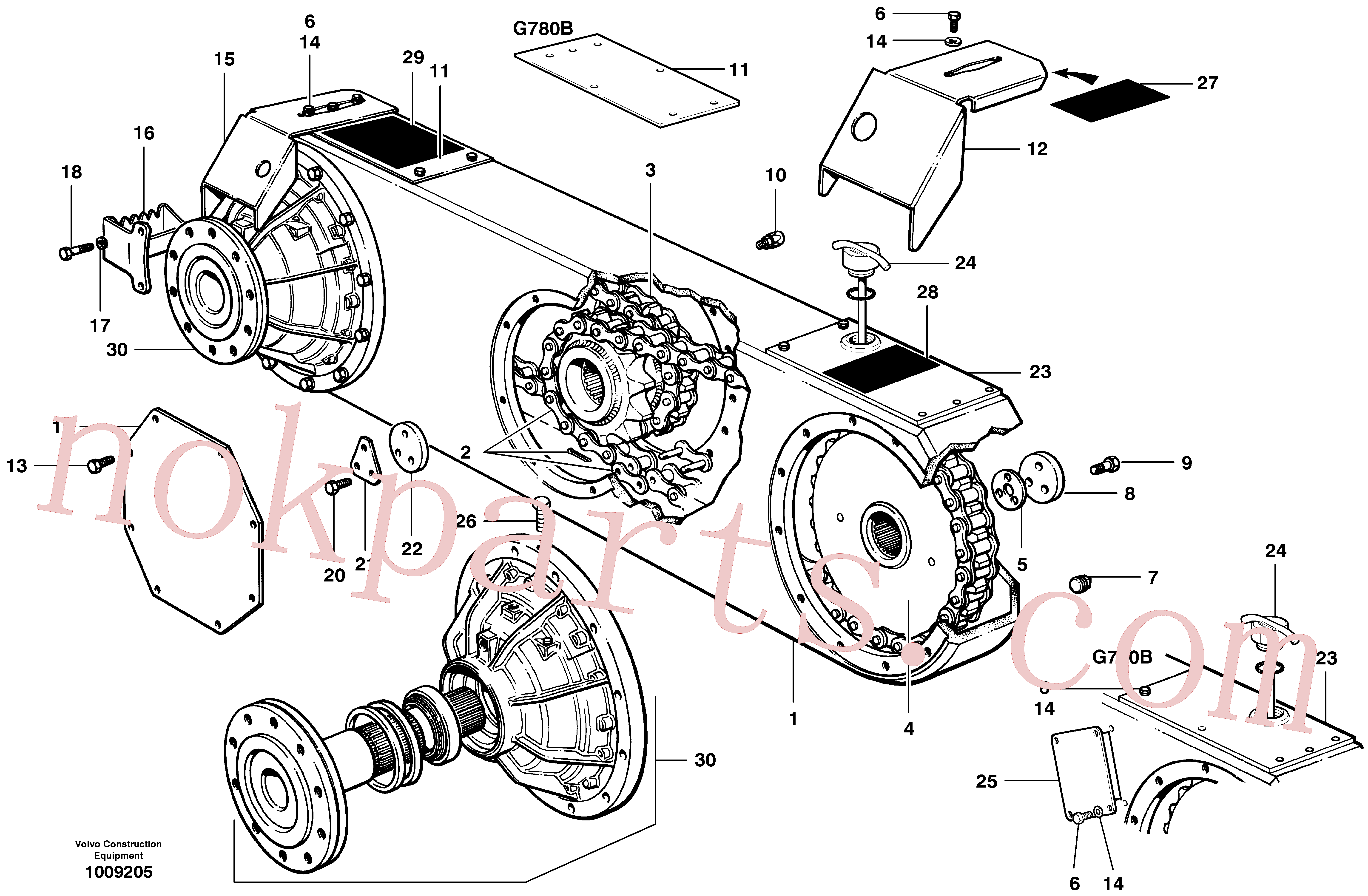 CH50A-0608ZI for Volvo Tandems(1009205 assembly)
