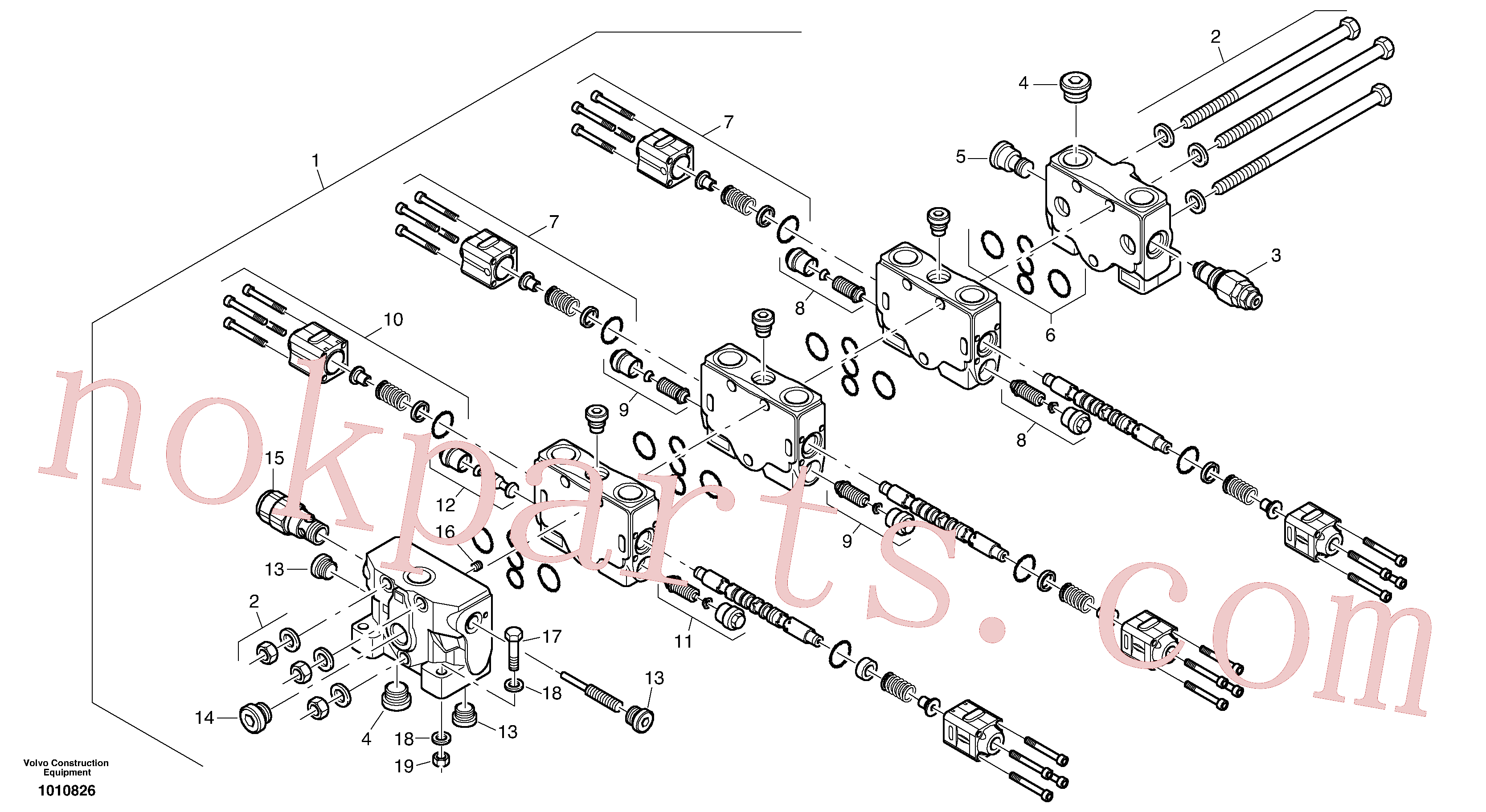 VOE11370782 for Volvo Control valve(1010826 assembly)