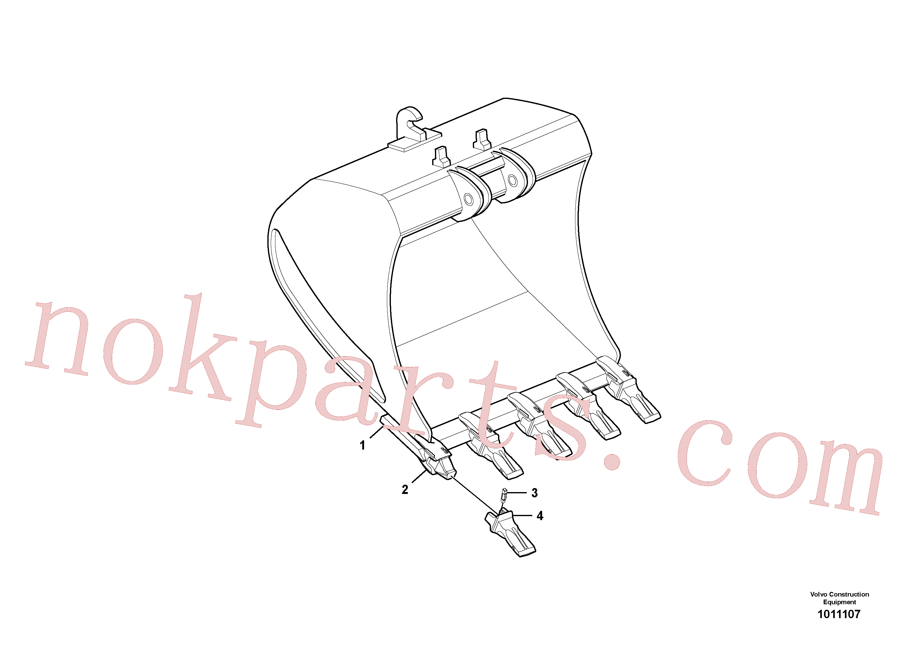 VOE14523552 for Volvo Buckets for Quickfit(1011107 assembly)