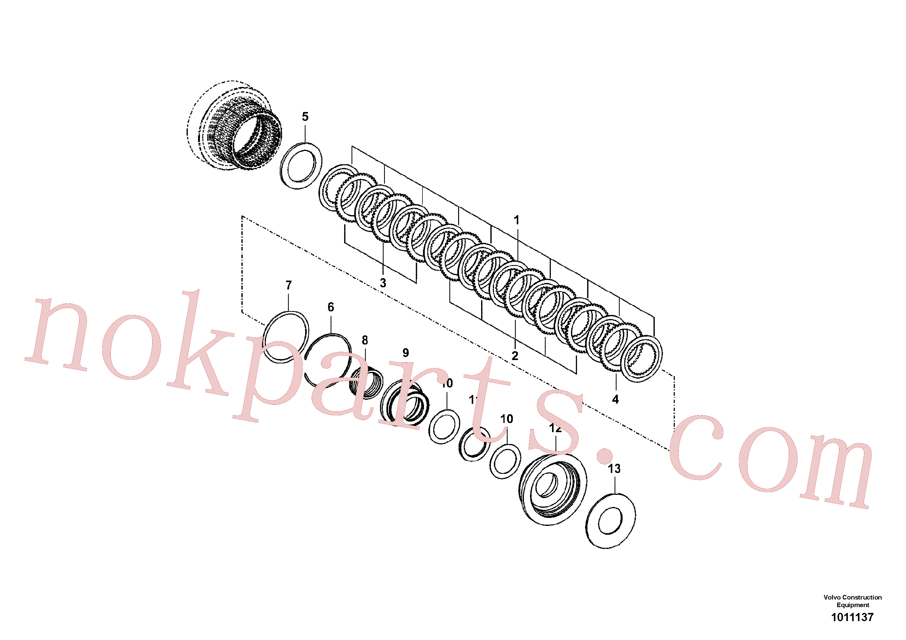 VOE14558045 for Volvo Coupling(1011137 assembly)