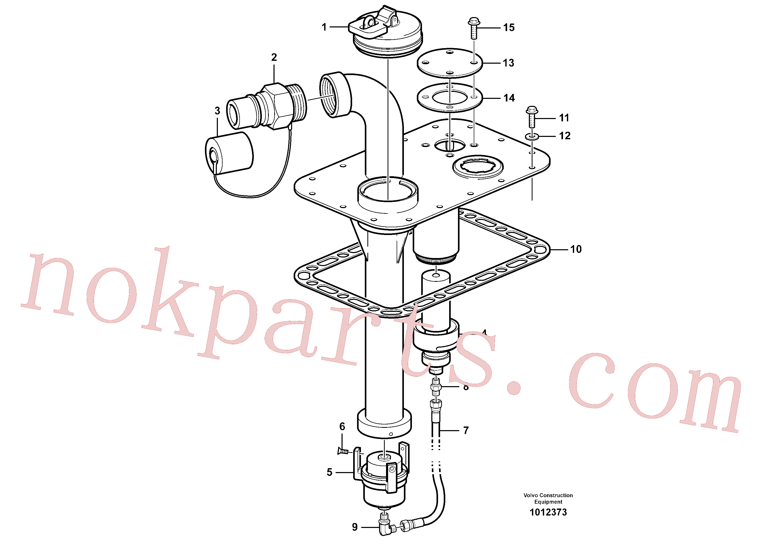 VOE15175275 for Volvo Fast-fill system(1012373 assembly)