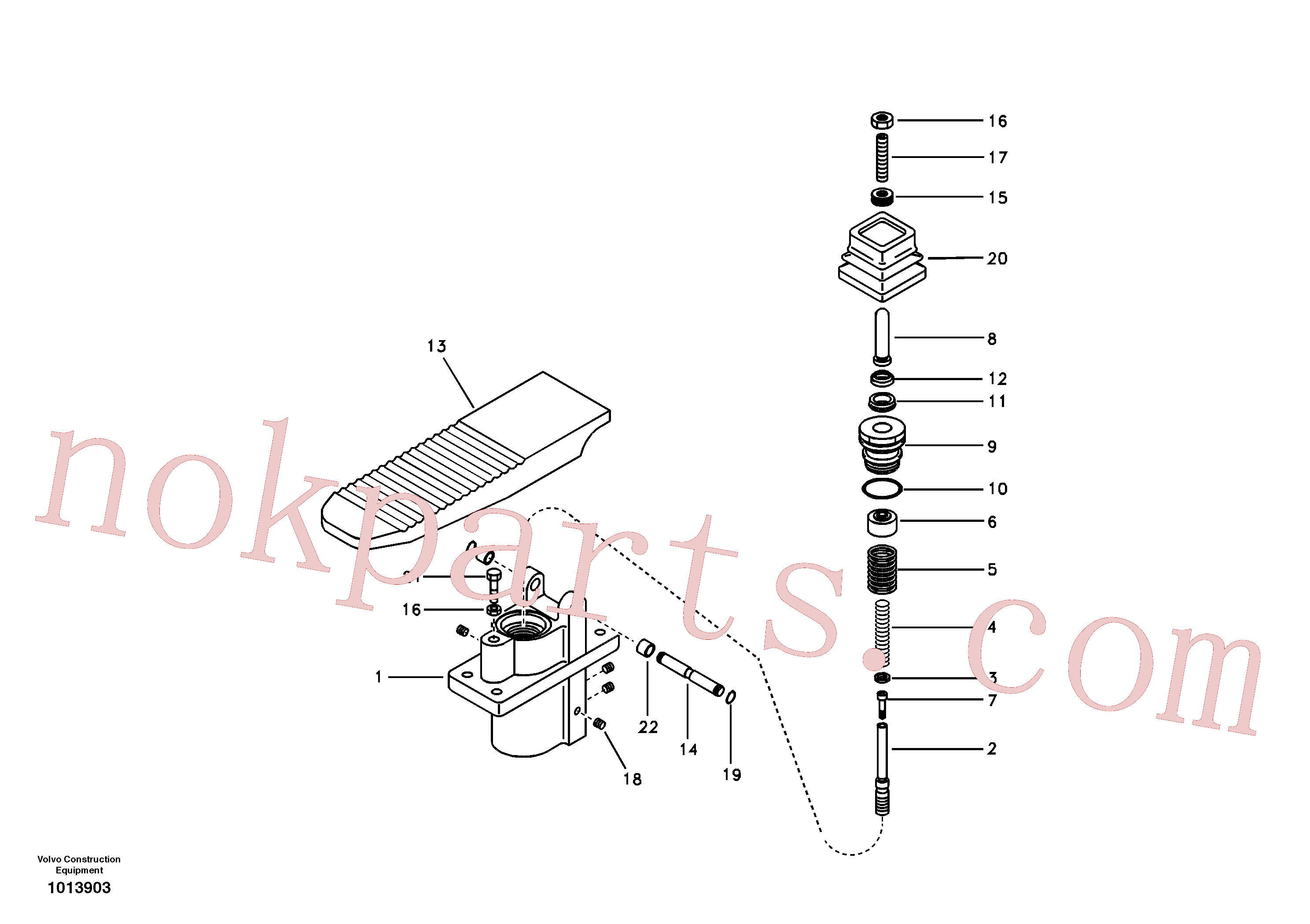 SA7263-00041 for Volvo Remote control valve pedal, travel motor(1013903 assembly)