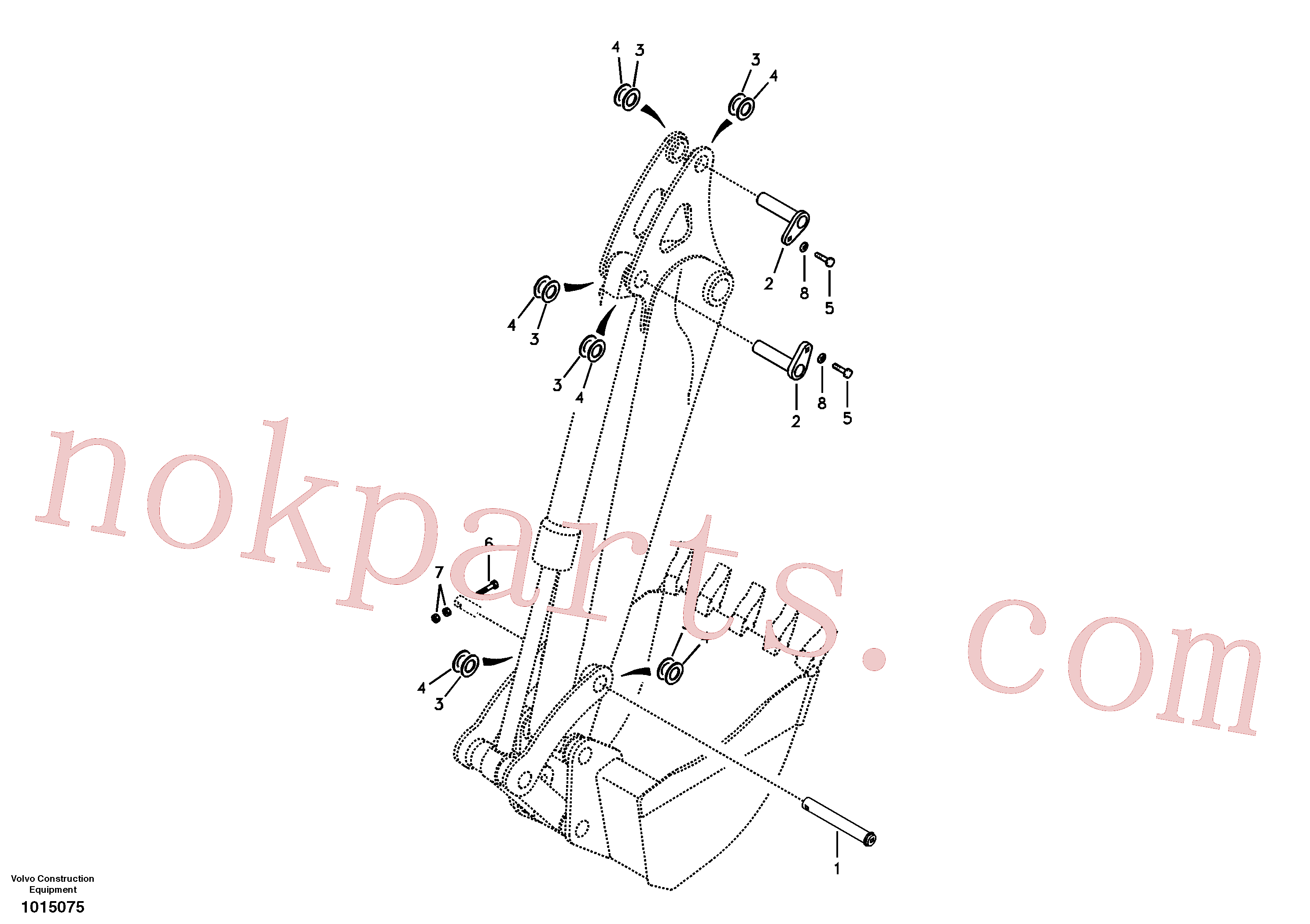 VOE979019 for Volvo Links to dipper arm(1015075 assembly)