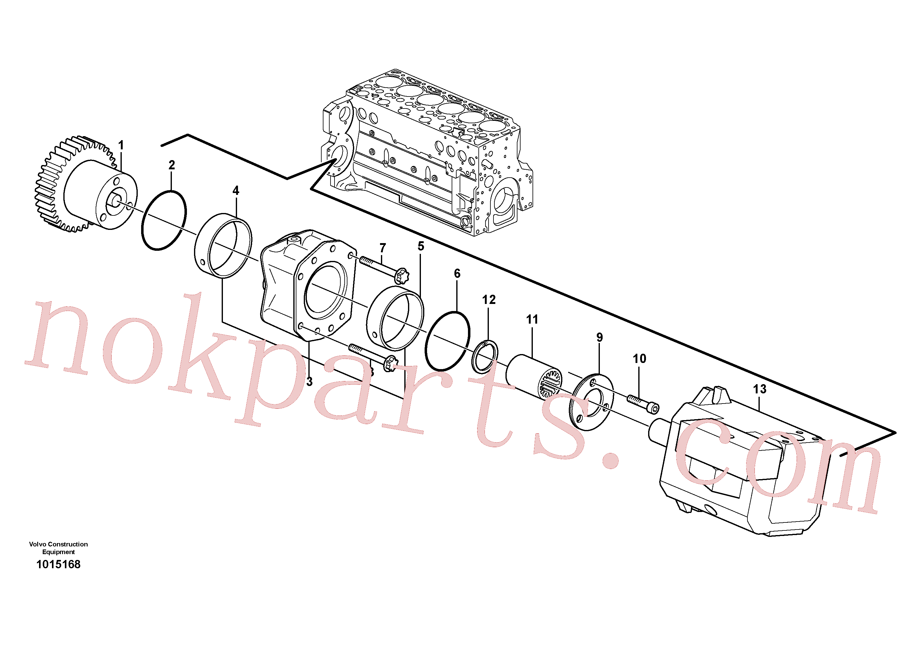 ZM2900655 for Volvo Pump drive power take-off(1015168 assembly)